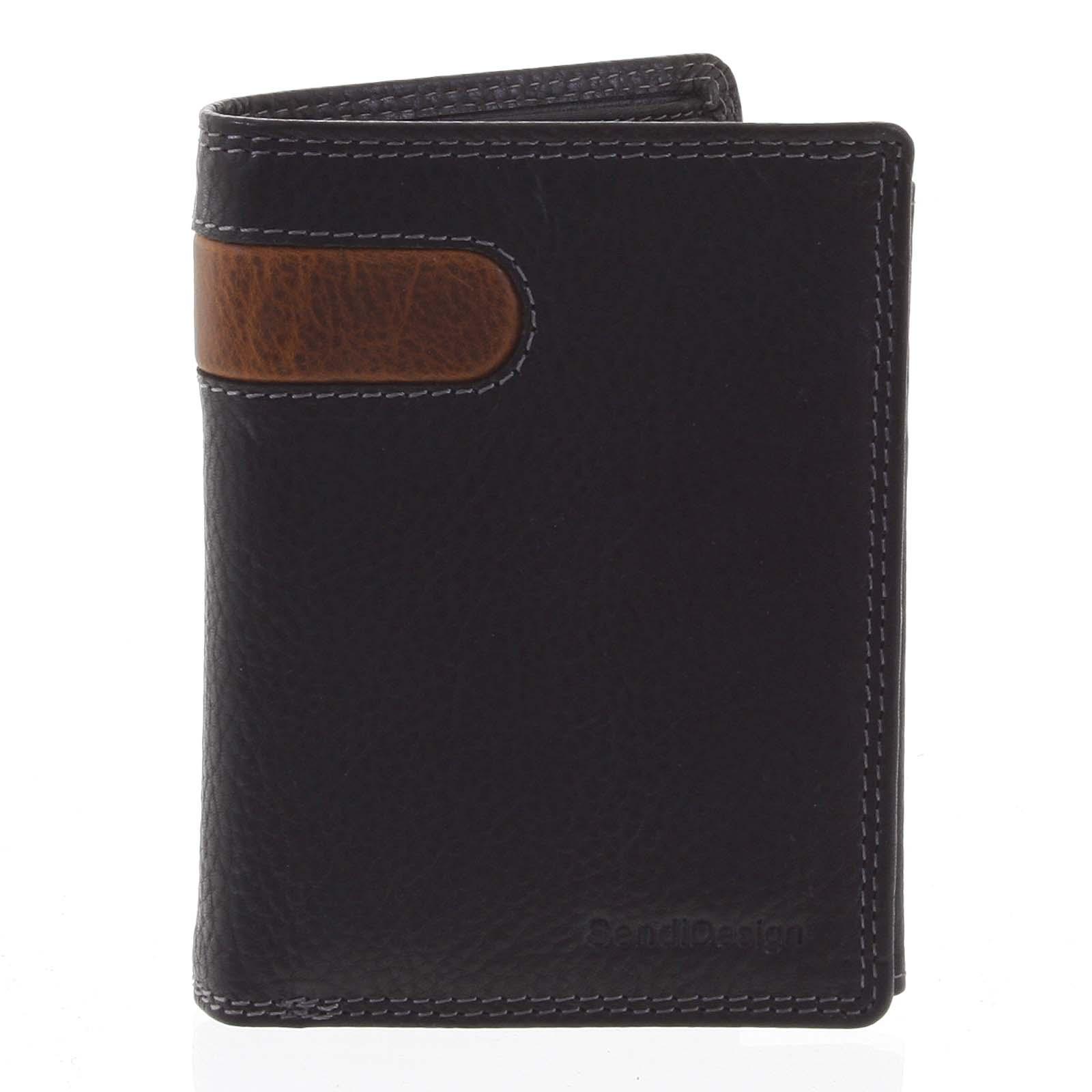 Pánská kožená peněženka černá - SendiDesign Parah