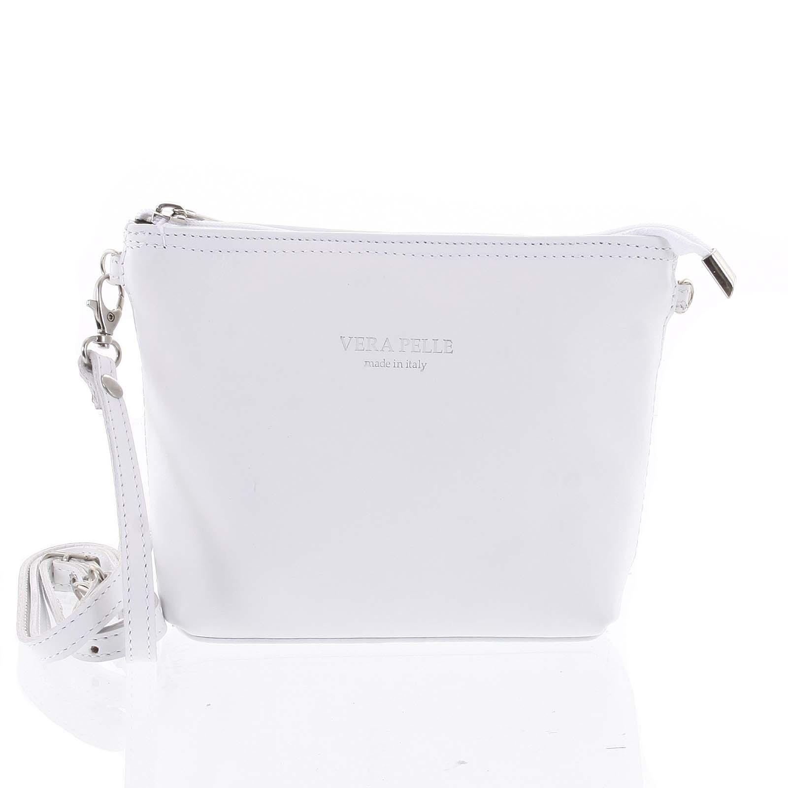Dámská kožená crossbody kabelka bílá - ItalY Garnet