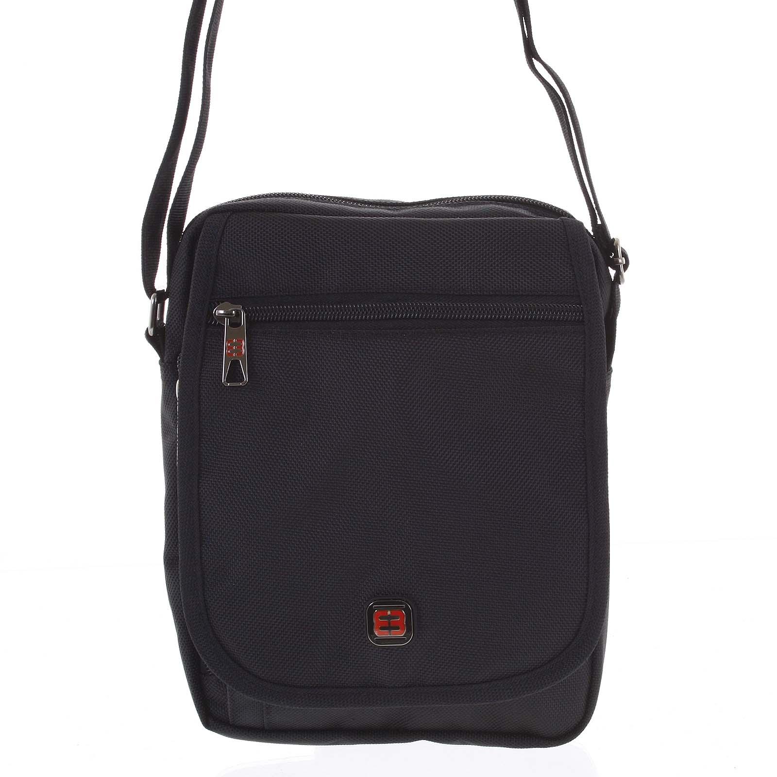 Pánská sportovní taška na doklady černá - Enrico Benetti Nico