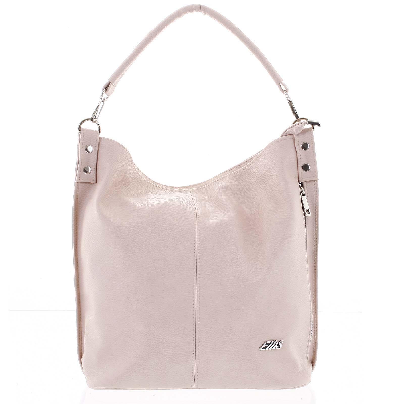 Elegantní dámská kabelka přes rameno růžová - Ellis Negina