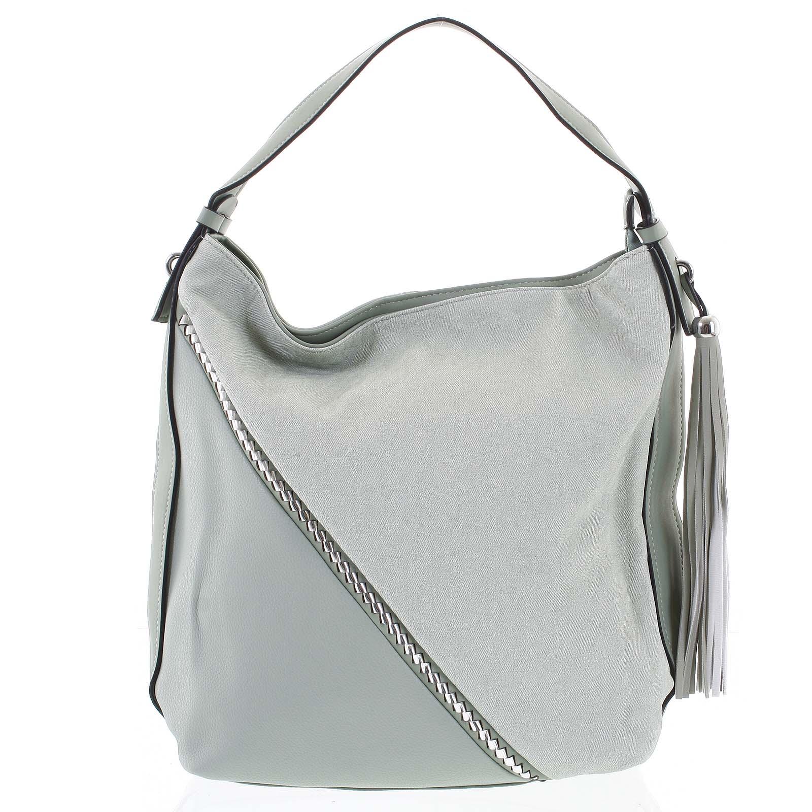 Originální zelená dámská kabelka přes rameno - Maria C Megumi