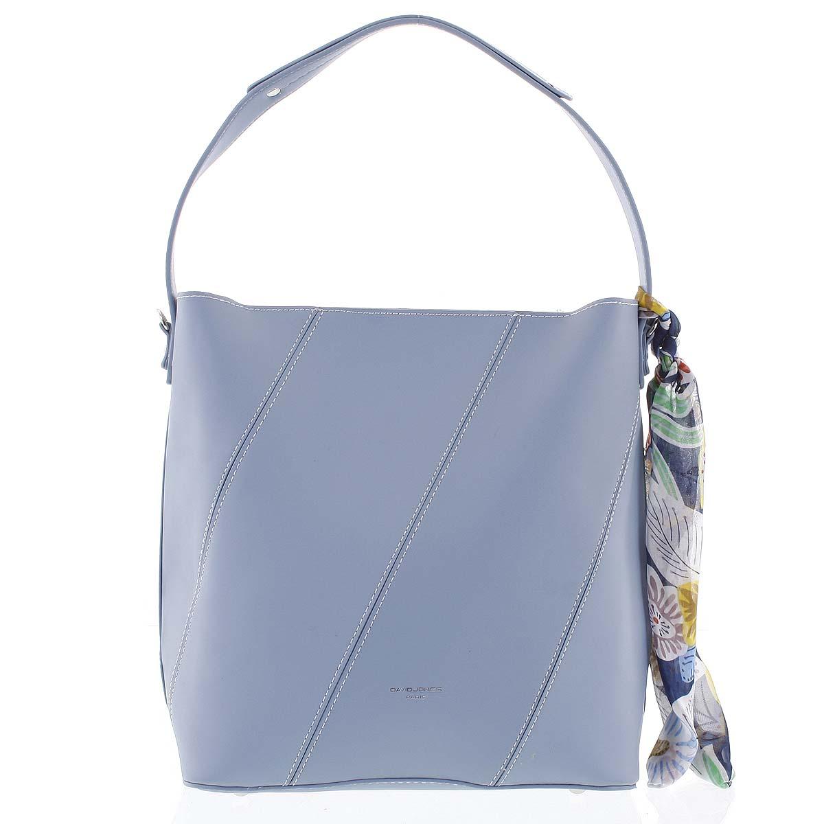 Elegantní dámská kabelka přes rameno světle modrá - David Jones Abena