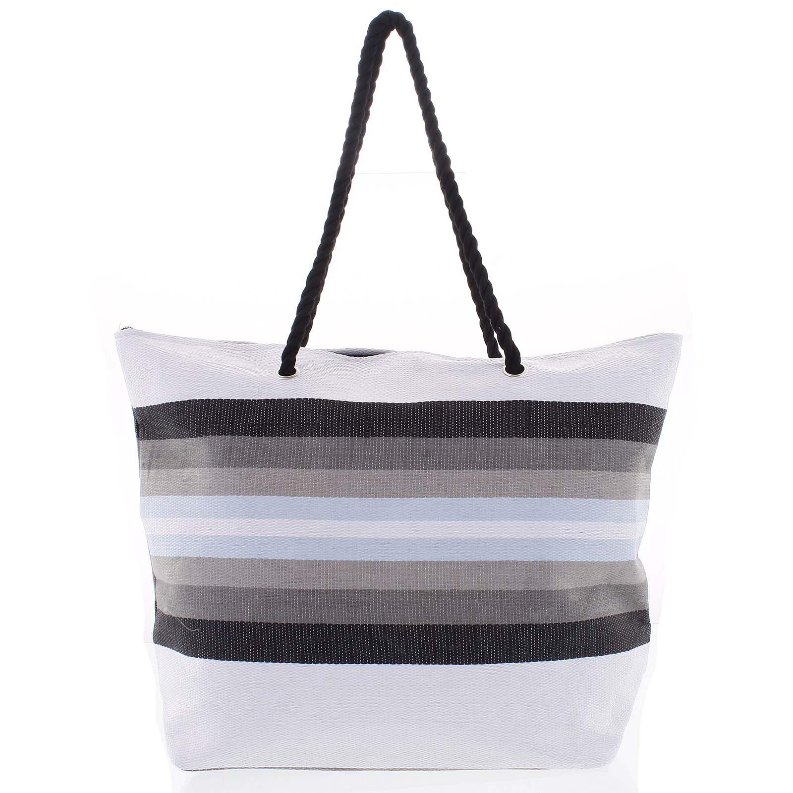 Šedá plážová taška - Delami Color New