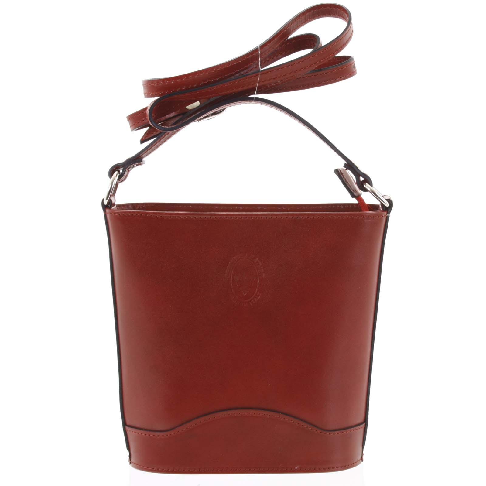 Červená kožená crossbody kabelka ItalY Bryana Dark