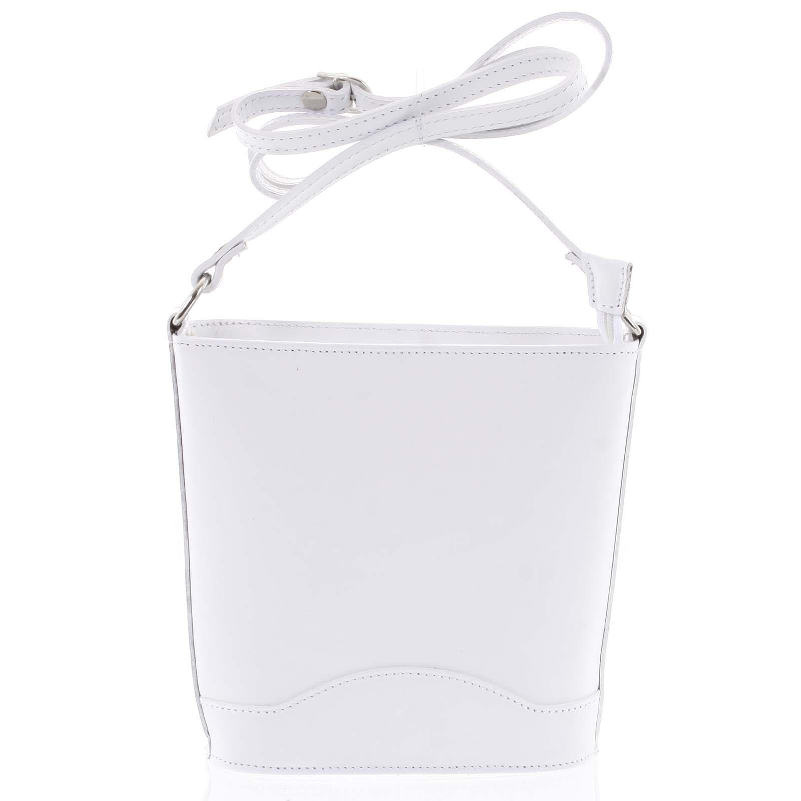 Bílá kožená crossbody kabelka ItalY Bryana Light