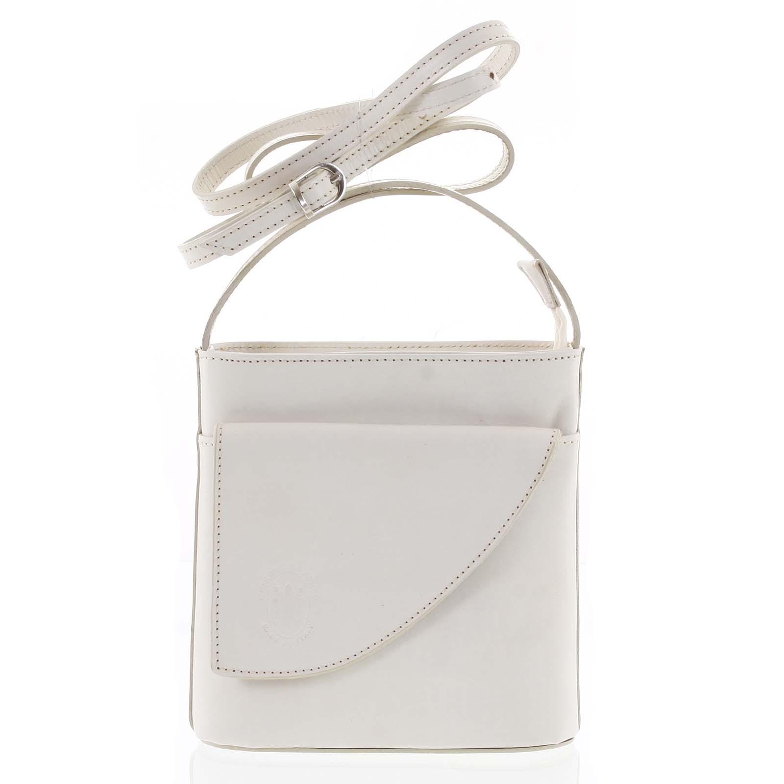 Dámská kožená crossbody kabelka béžová - ItalY Cora Light