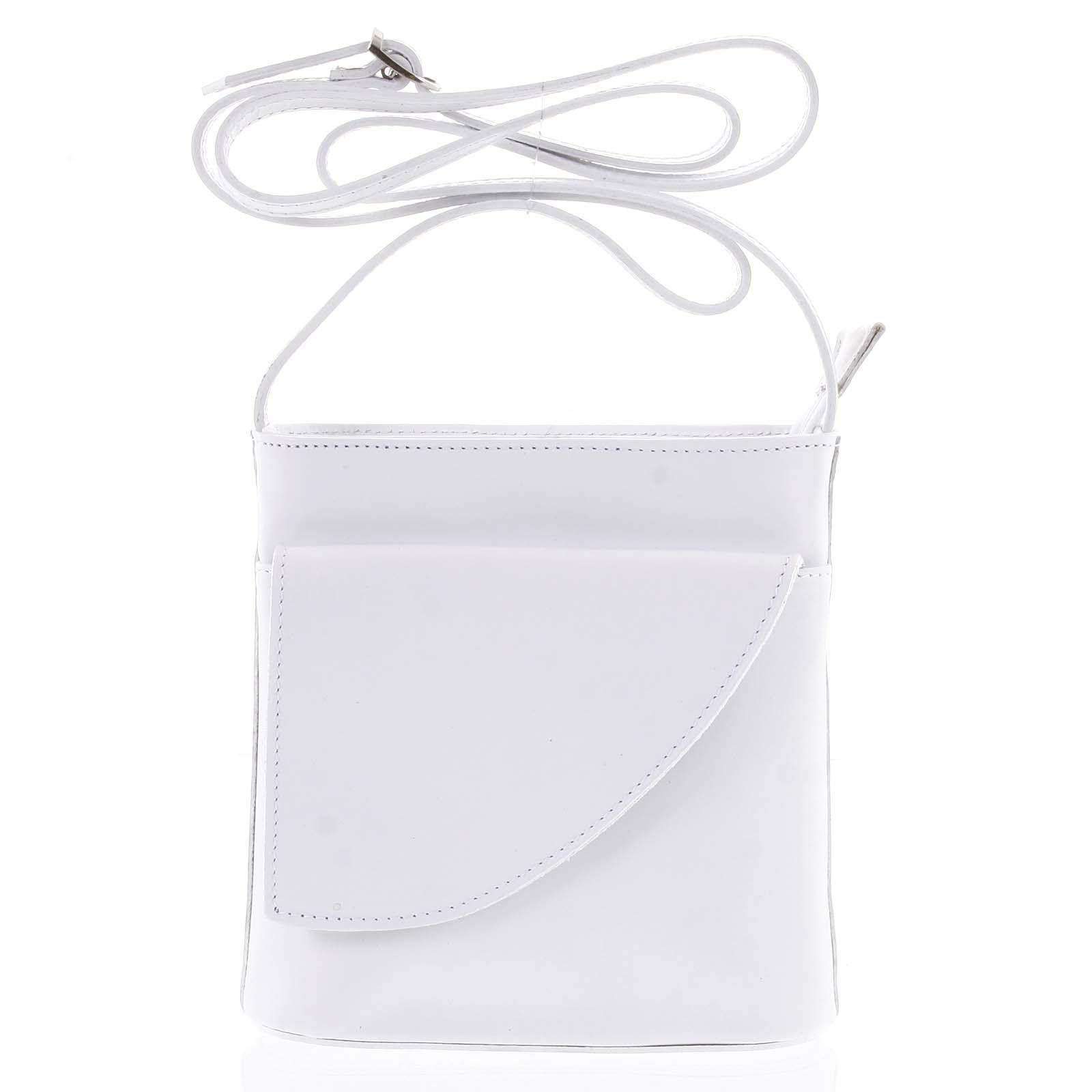 Dámská kožená crossbody kabelka bílá - ItalY Cora Light