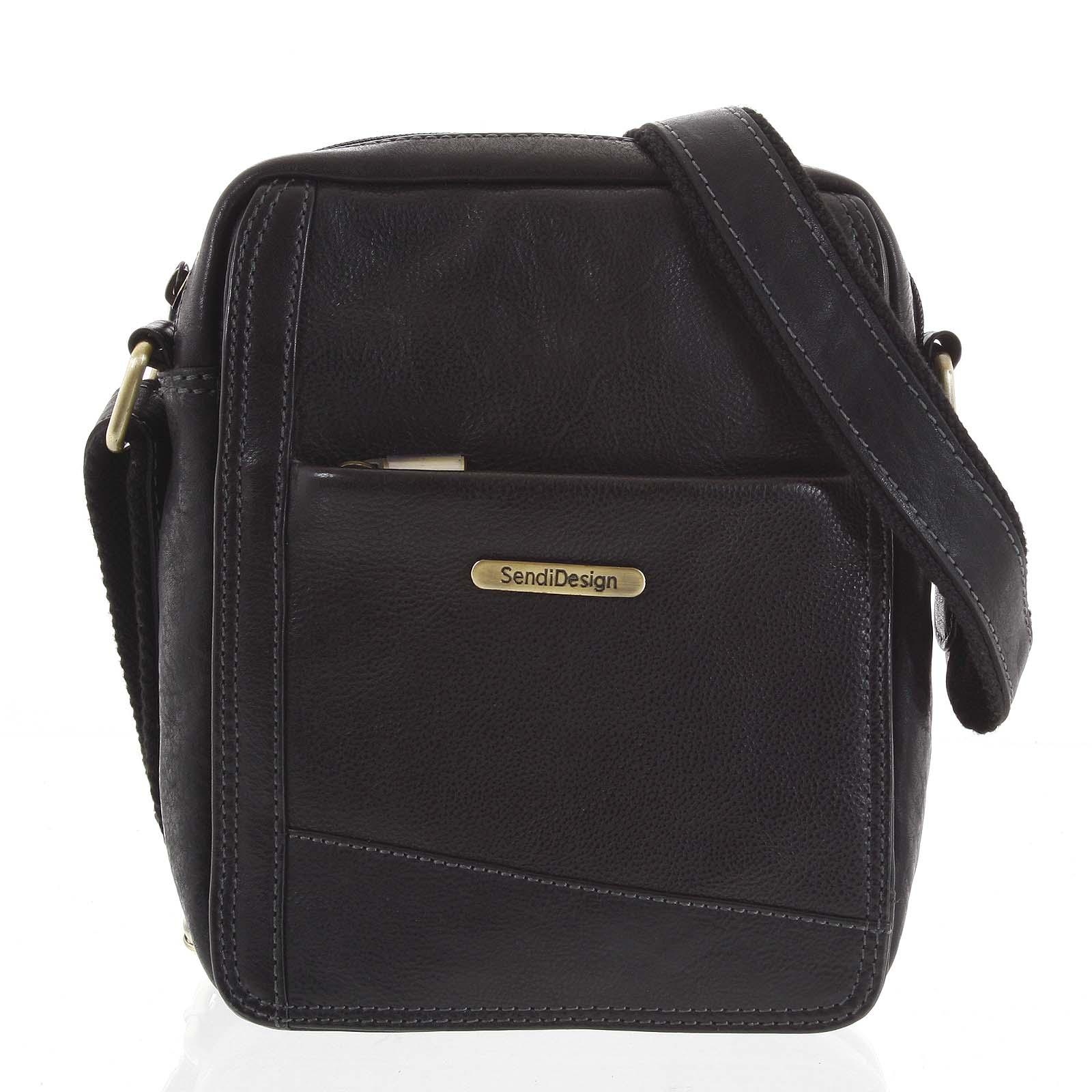 Pánská kožená taška na doklady černá - SendiDesign Eser
