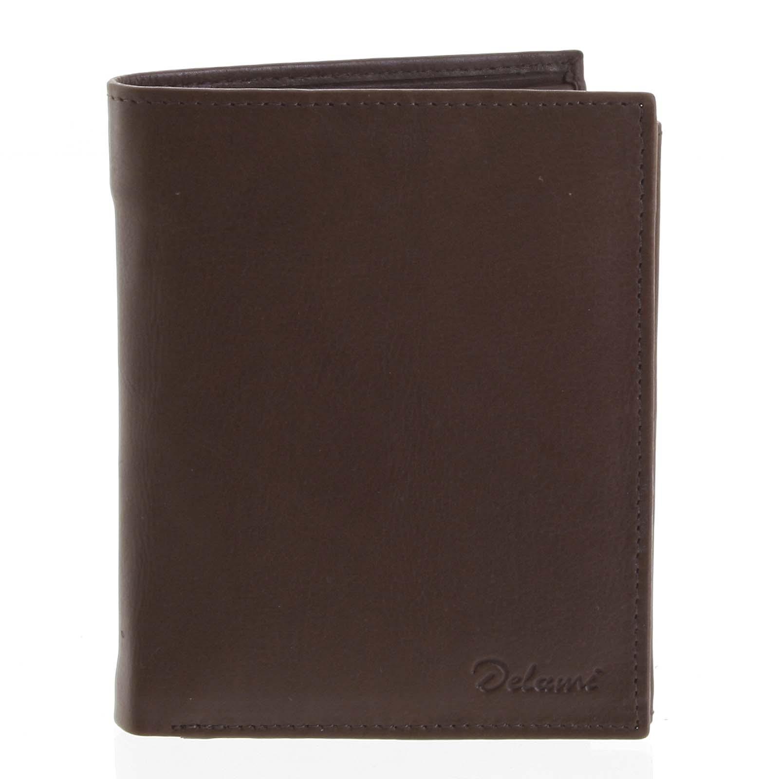 Pánská kožená hnědá peněženka - Delami 8229