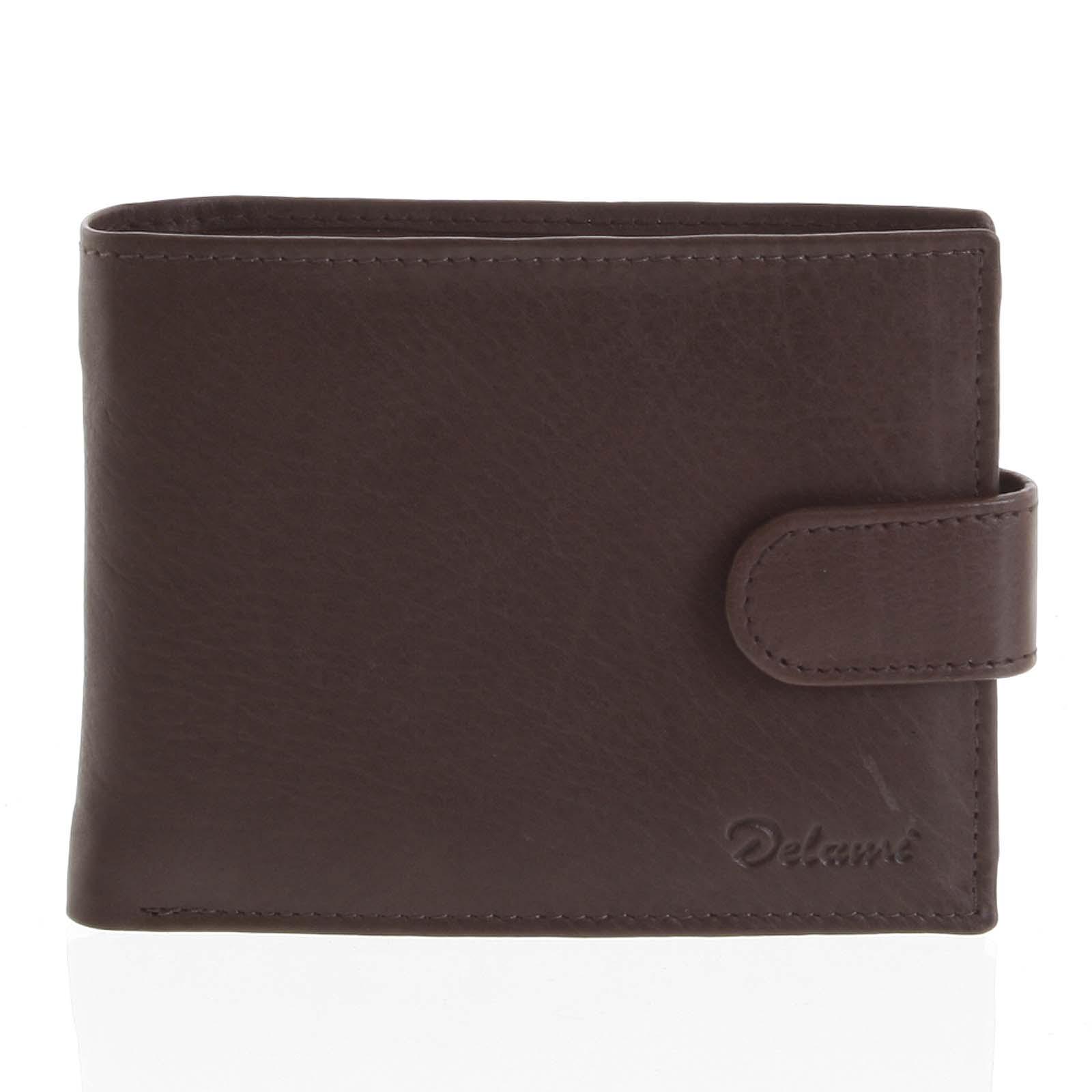 Kožená peněženka hnědá - Delami 8693