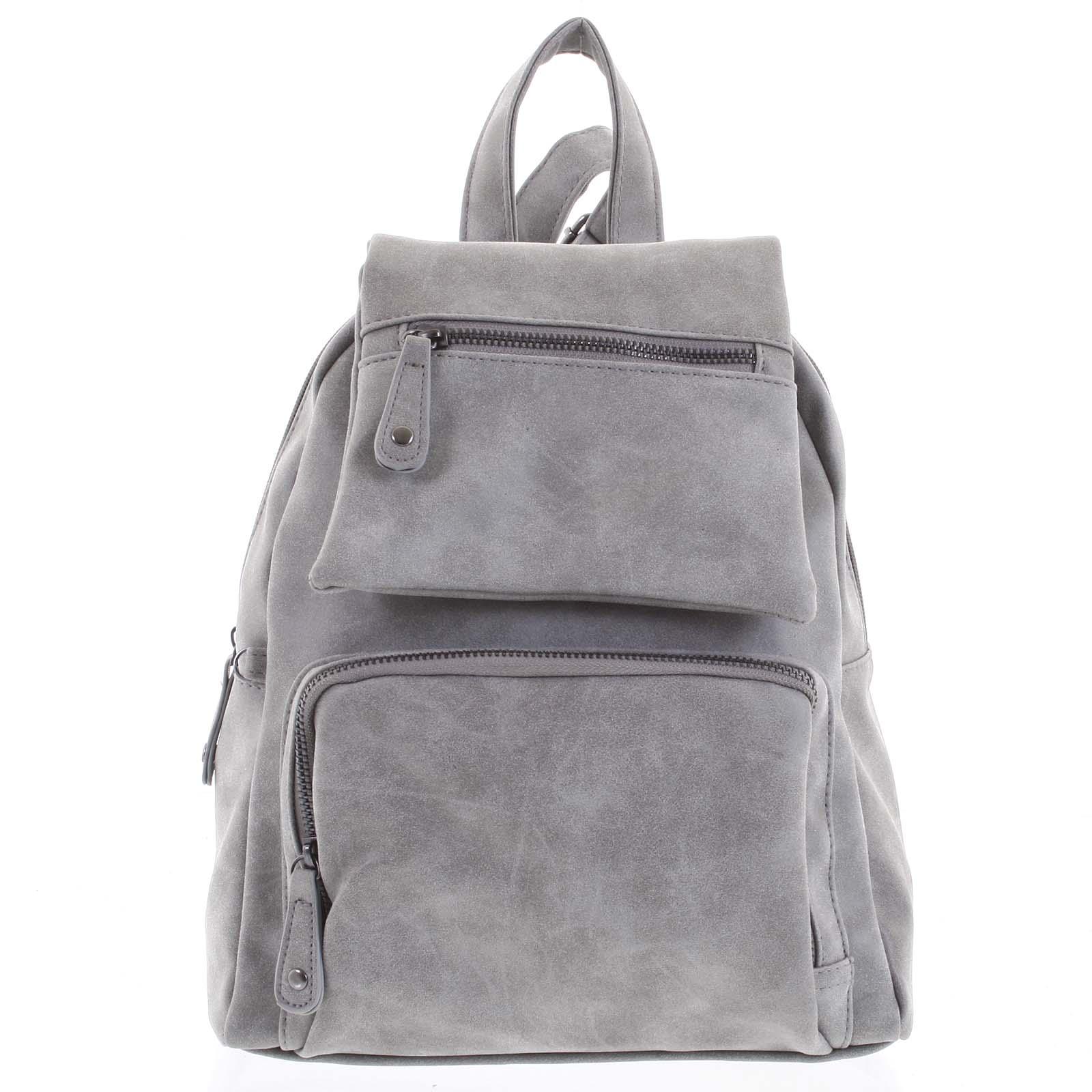 Trendy městský batůžek světle šedý - Just Dreamz Kaydence