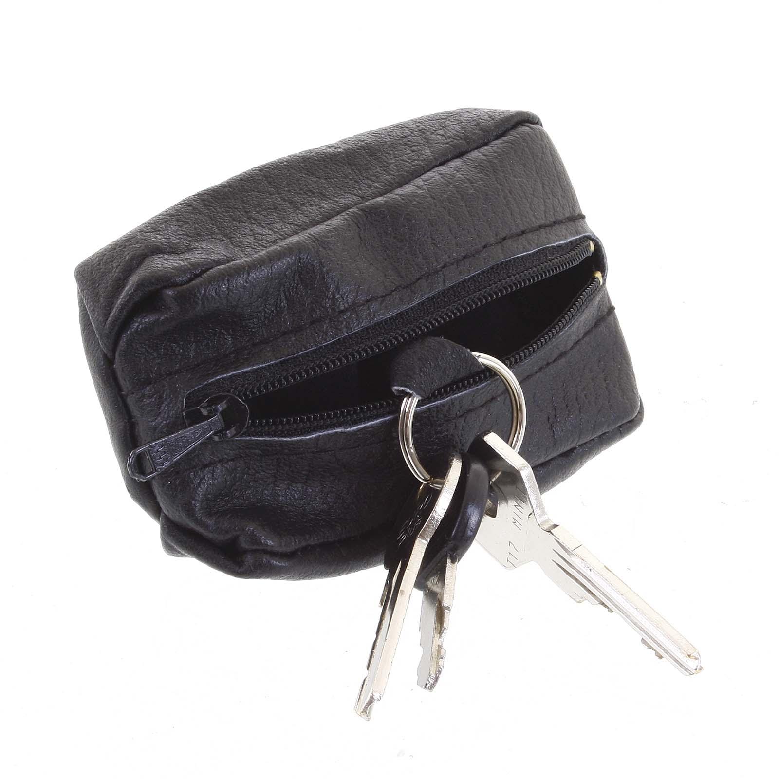 Kožená klíčenka SendiDesign černá - KL002 Wide