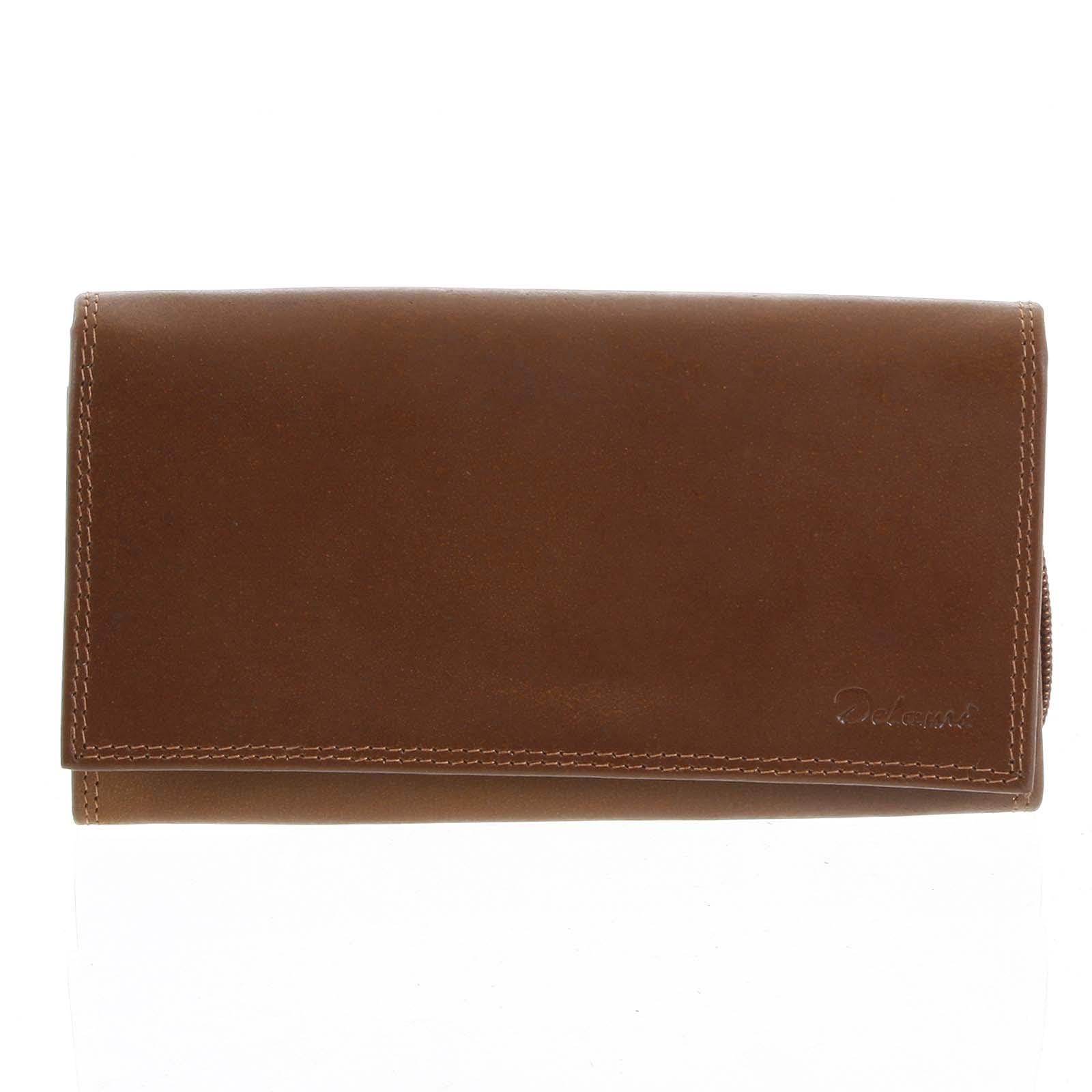 Decentní dámská kožená světle hnědá peněženka - Delami CHAGL03129