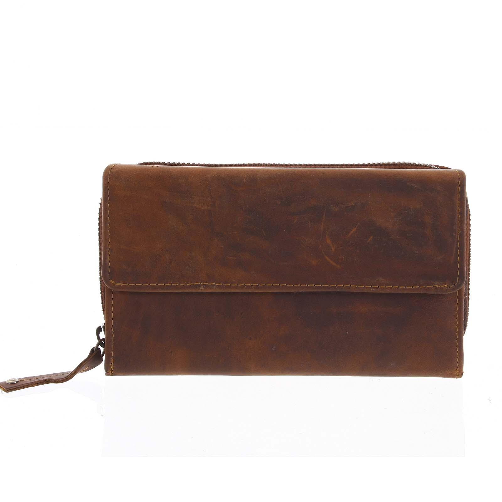 Dámská kožená peněženka hnědá - Tomas Menmaiya