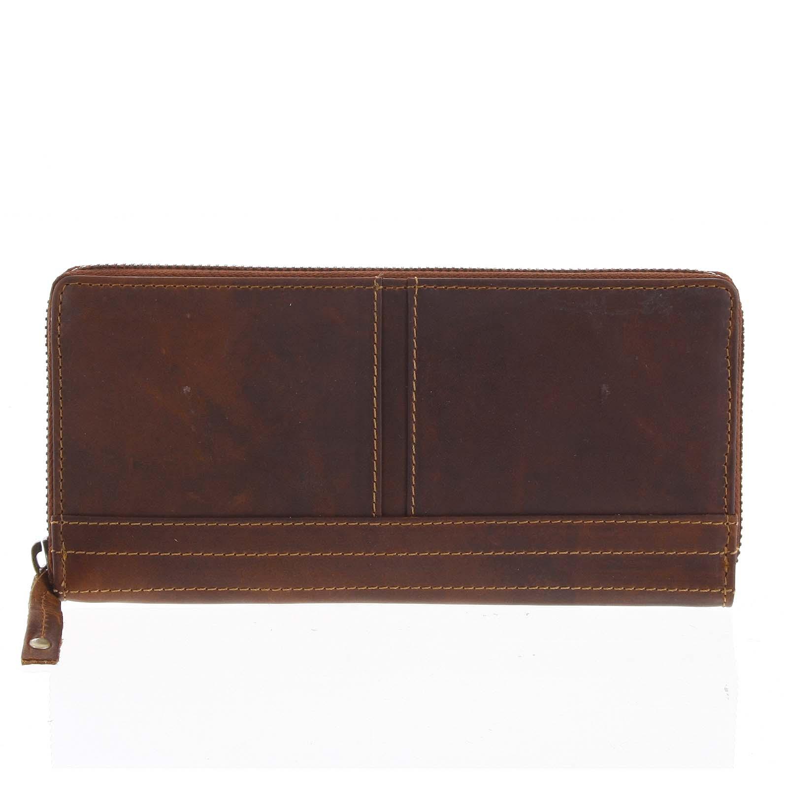 Dámská kožená peněženka hnědá - Tomas Xambo