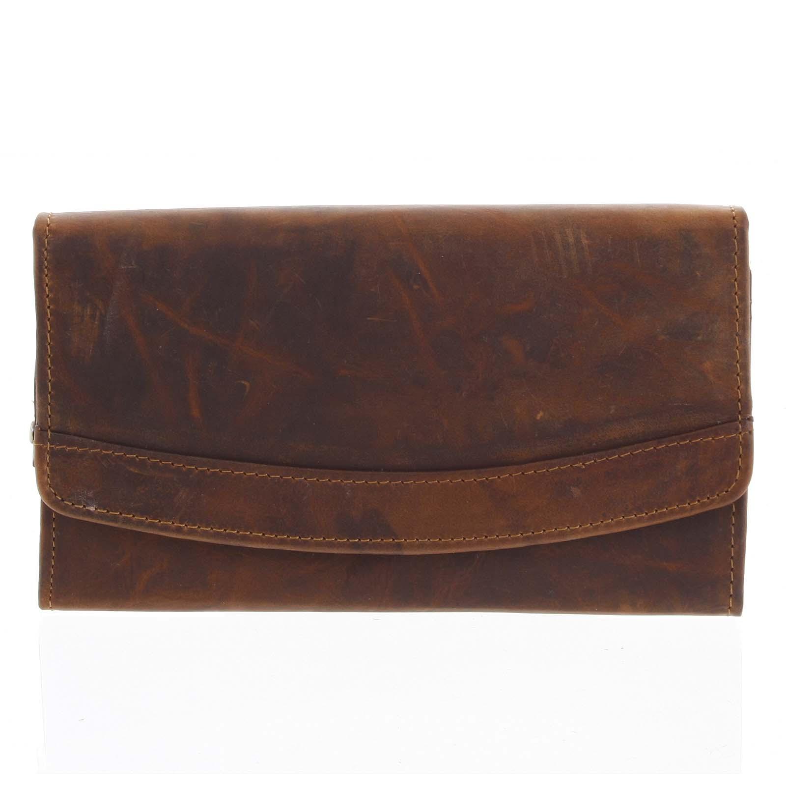 Dámská kožená peněženka hnědá - Tomas Slat