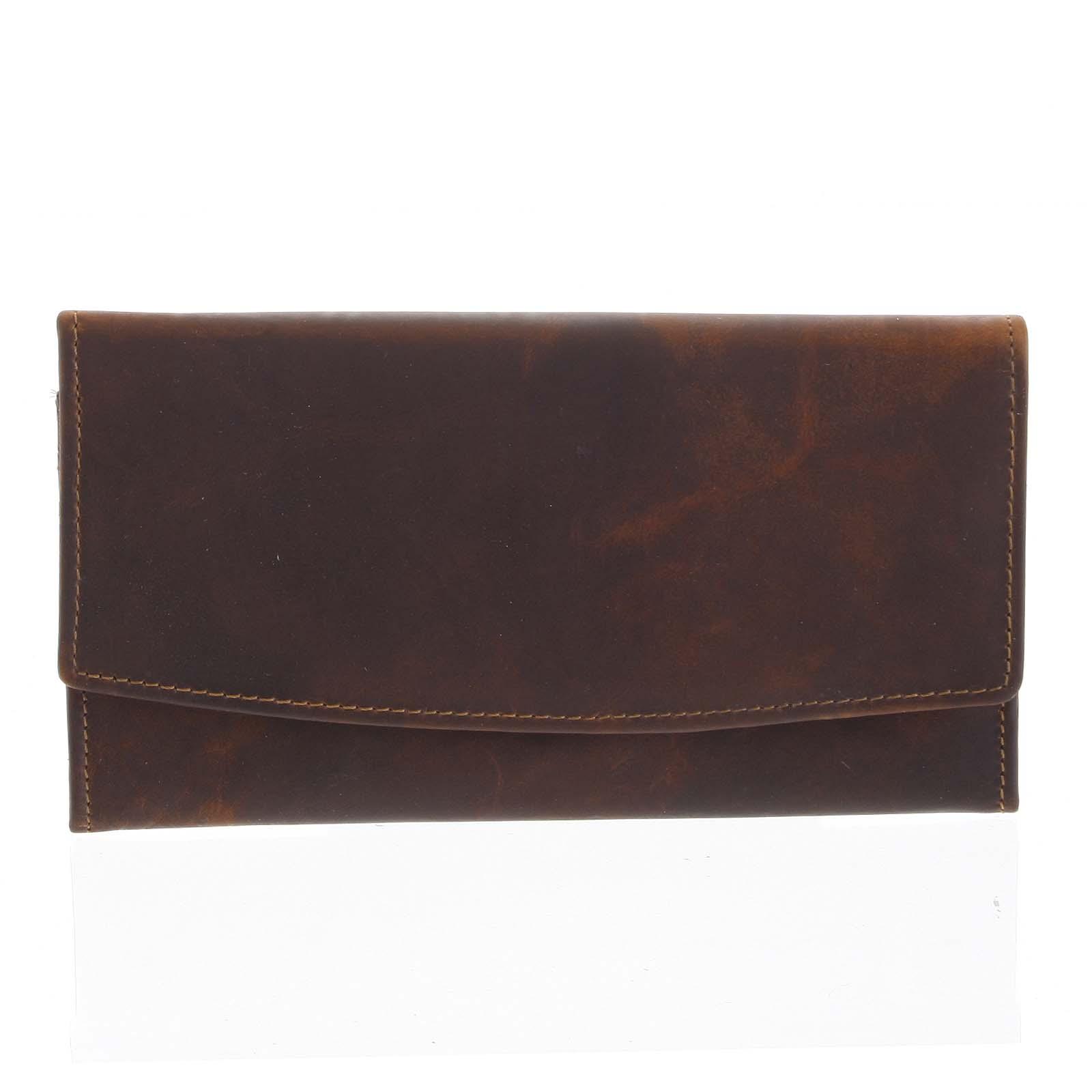 Dámská kožená peněženka hnědá - Tomas Suave