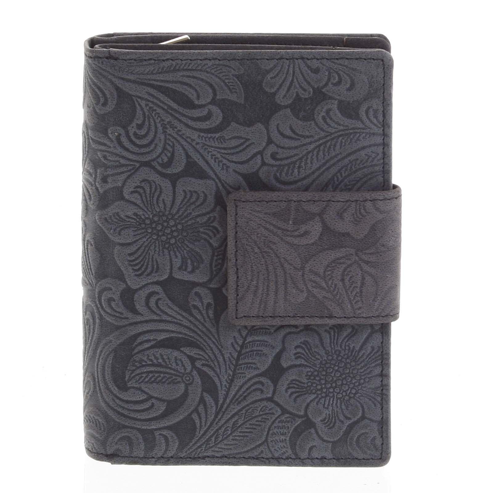 Dámská kožená peněženka antracitová - Tomas Intya
