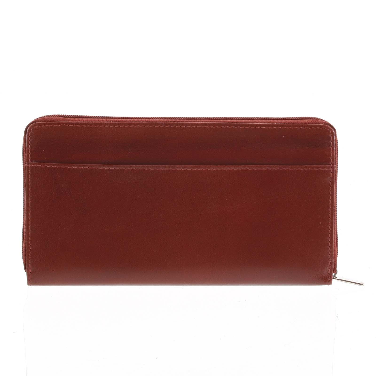 Dámská kožená peněženka tmavě červená - Tomas Imvilophu