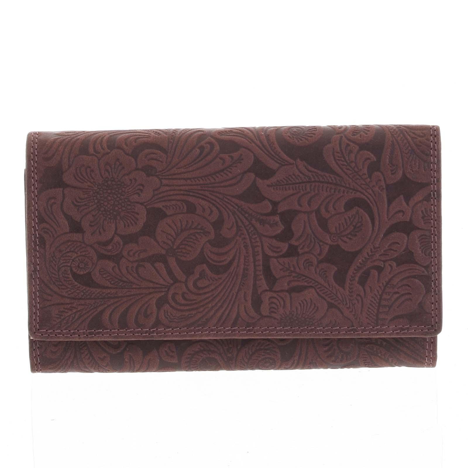 Dámská kožená peněženka bordó - Tomas Imbali