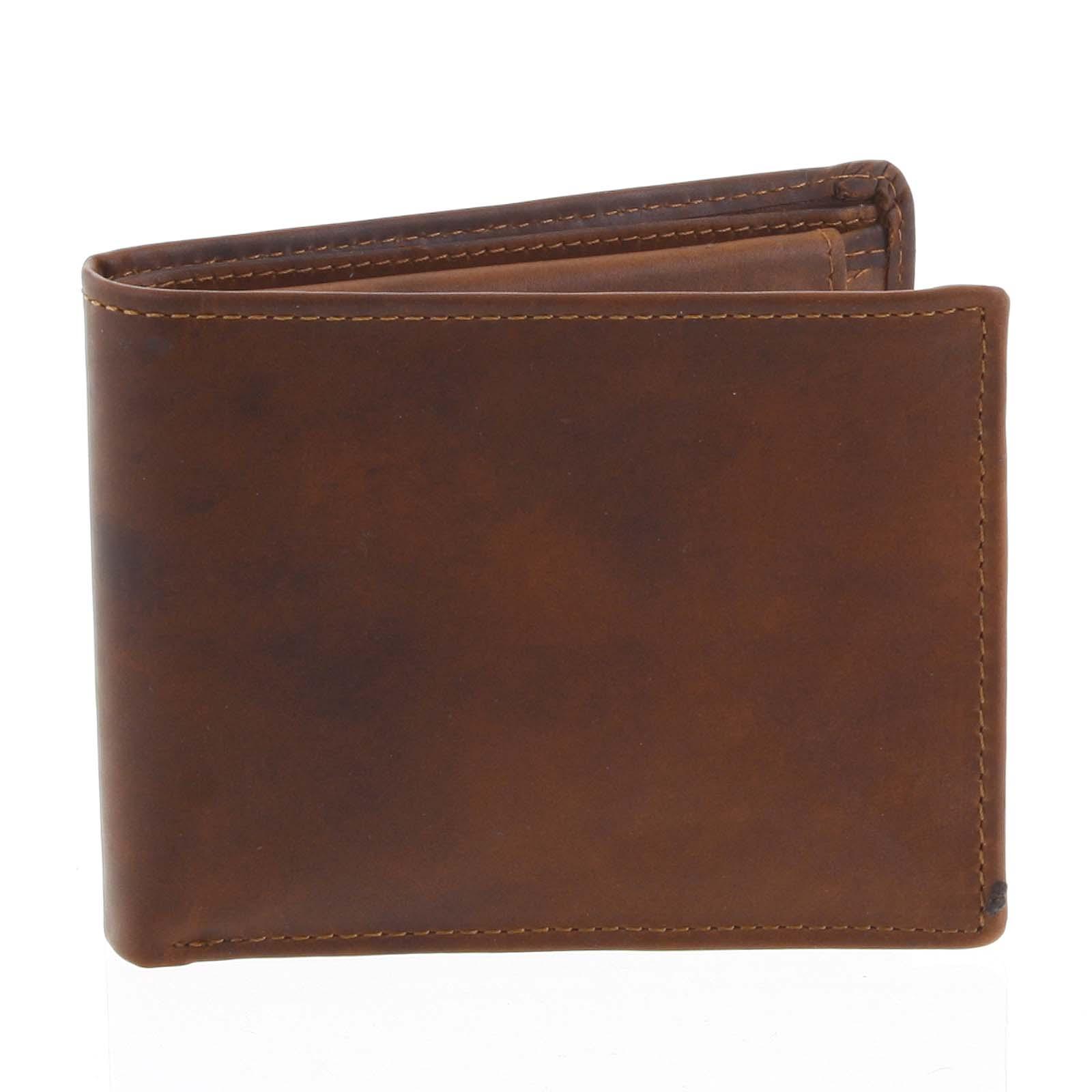 Pánská kožená peněženka hnědá - Tomas Bushel