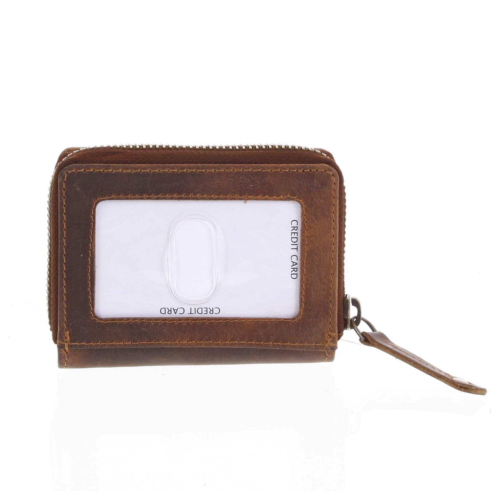 Kožená peněženka hnědá - Tomas Omcane