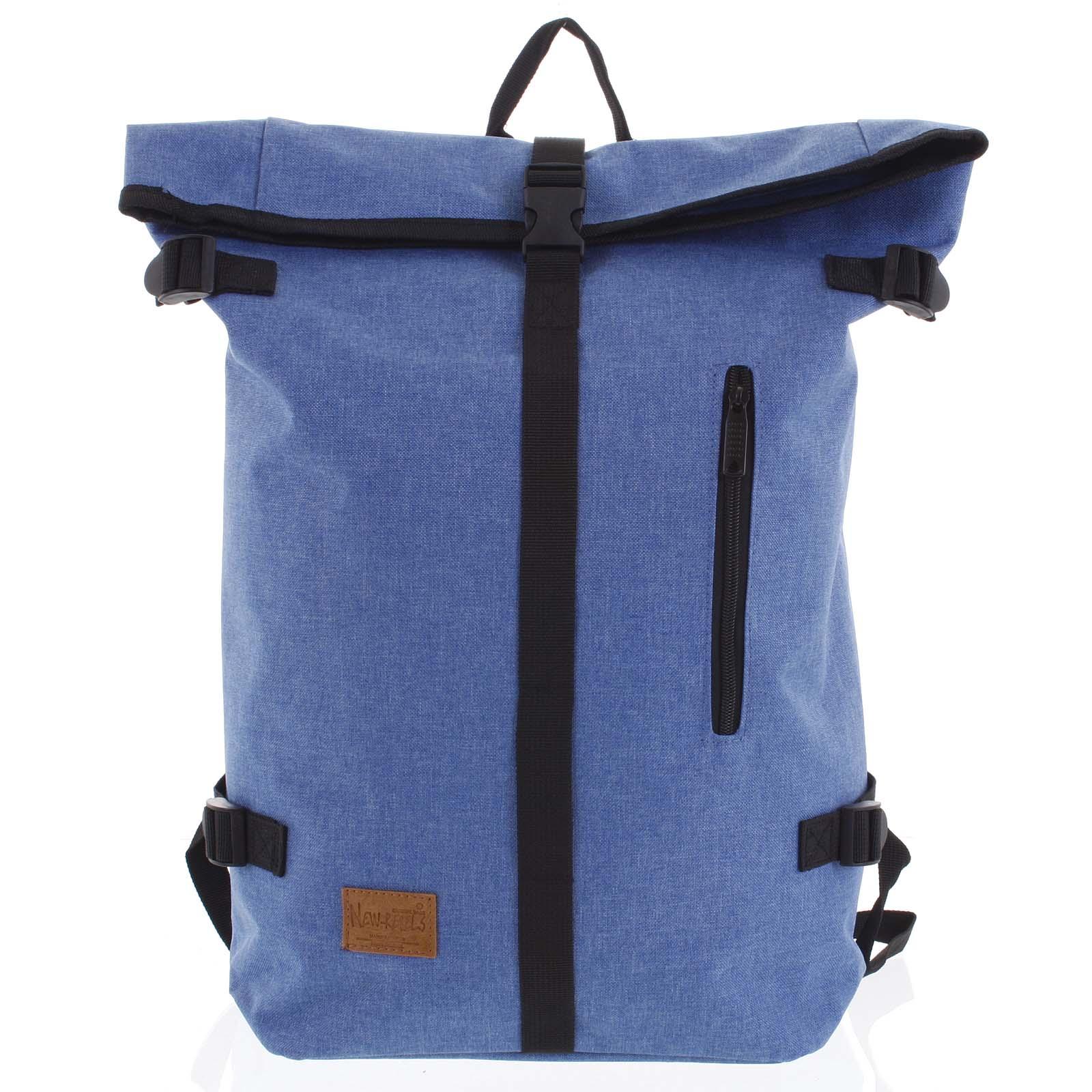 Jedinečný velký stylový unisex batoh světle modrý - New Rebels Rebback