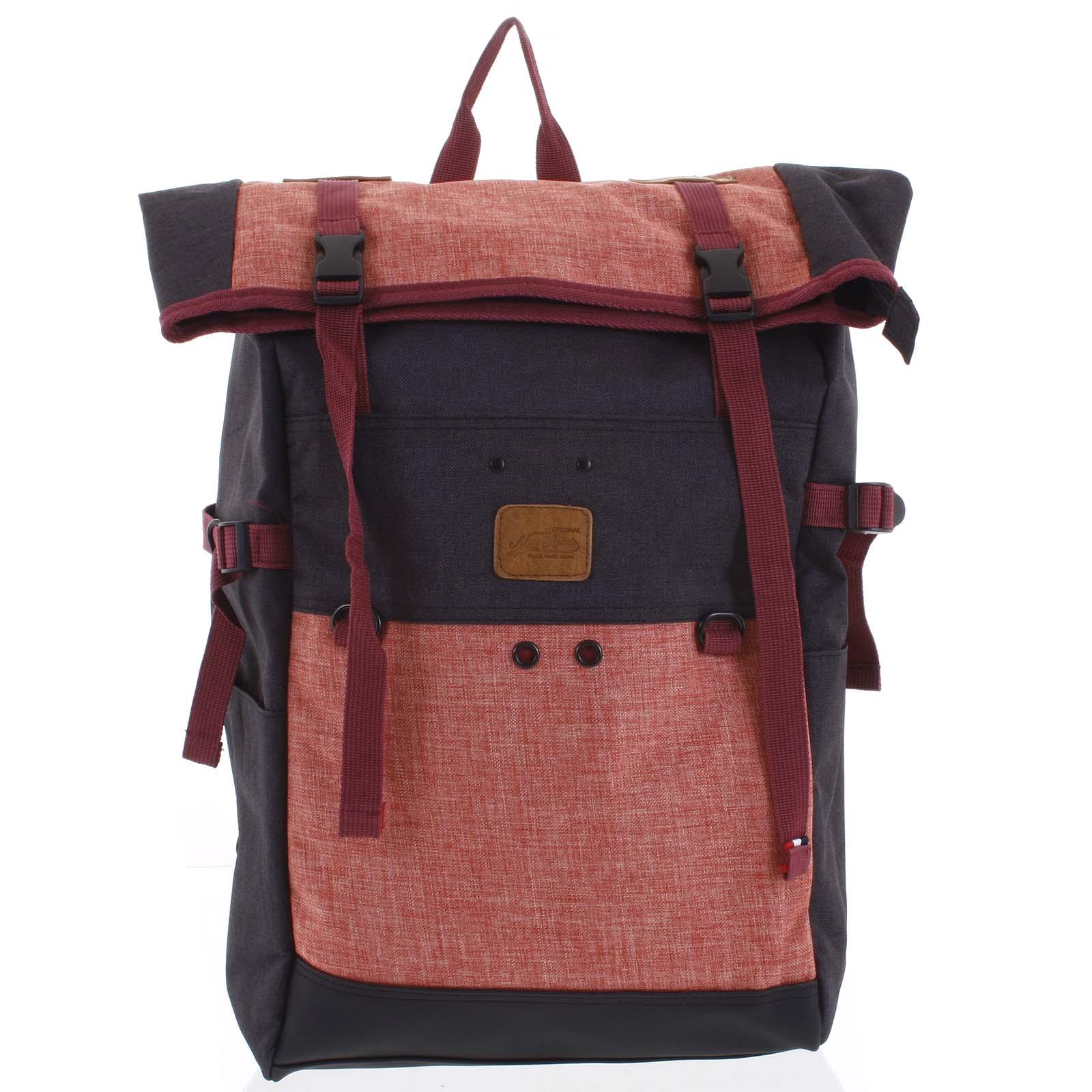 Kombinovaný cestovní batoh černo růžový - New Rebels Messer