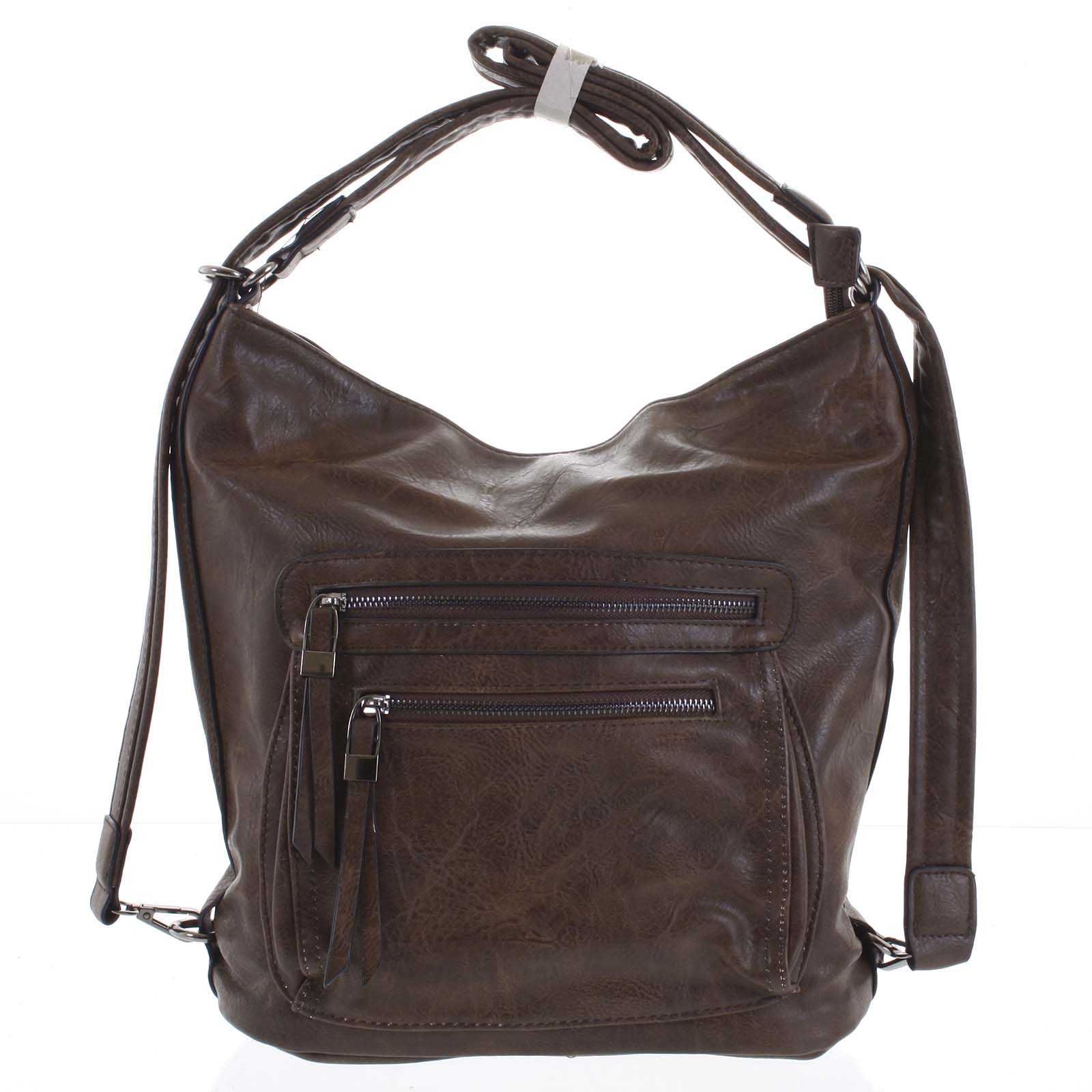 Dámská kabelka batoh kávová - Romina Jaylyn