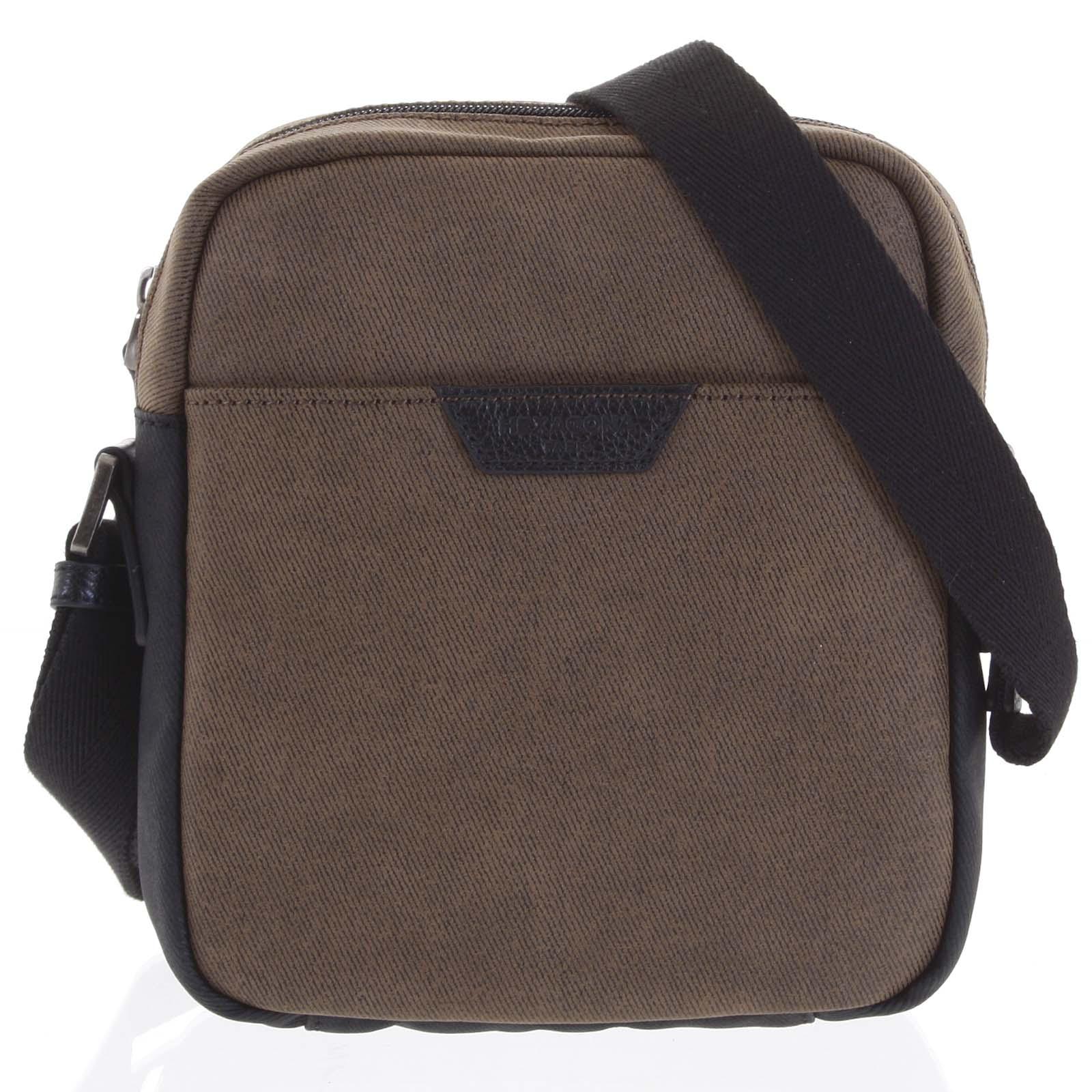 Pánská taška přes rameno hnědá - Hexagona Clark