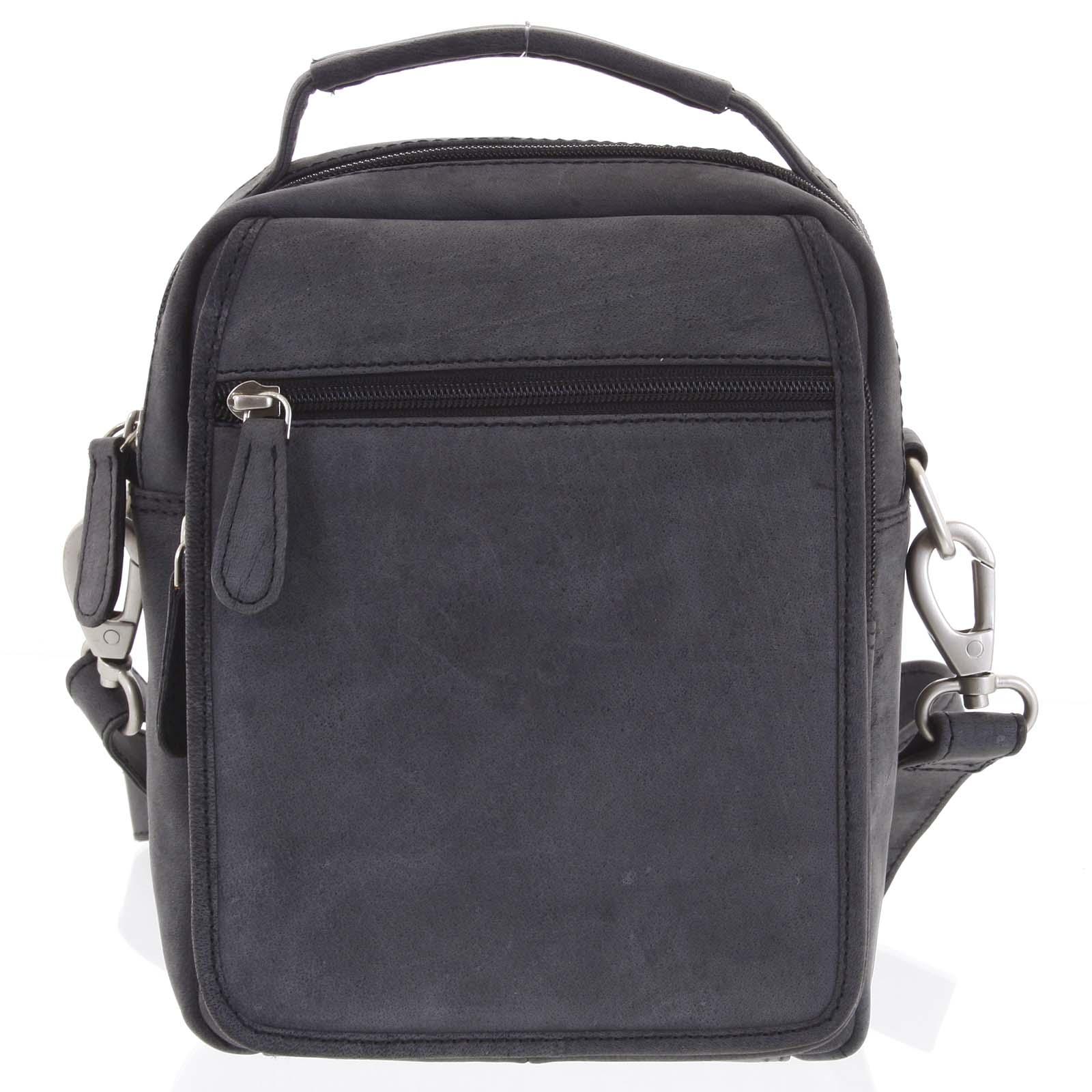 Černá kožená taška přes rameno SendiDesign Rico