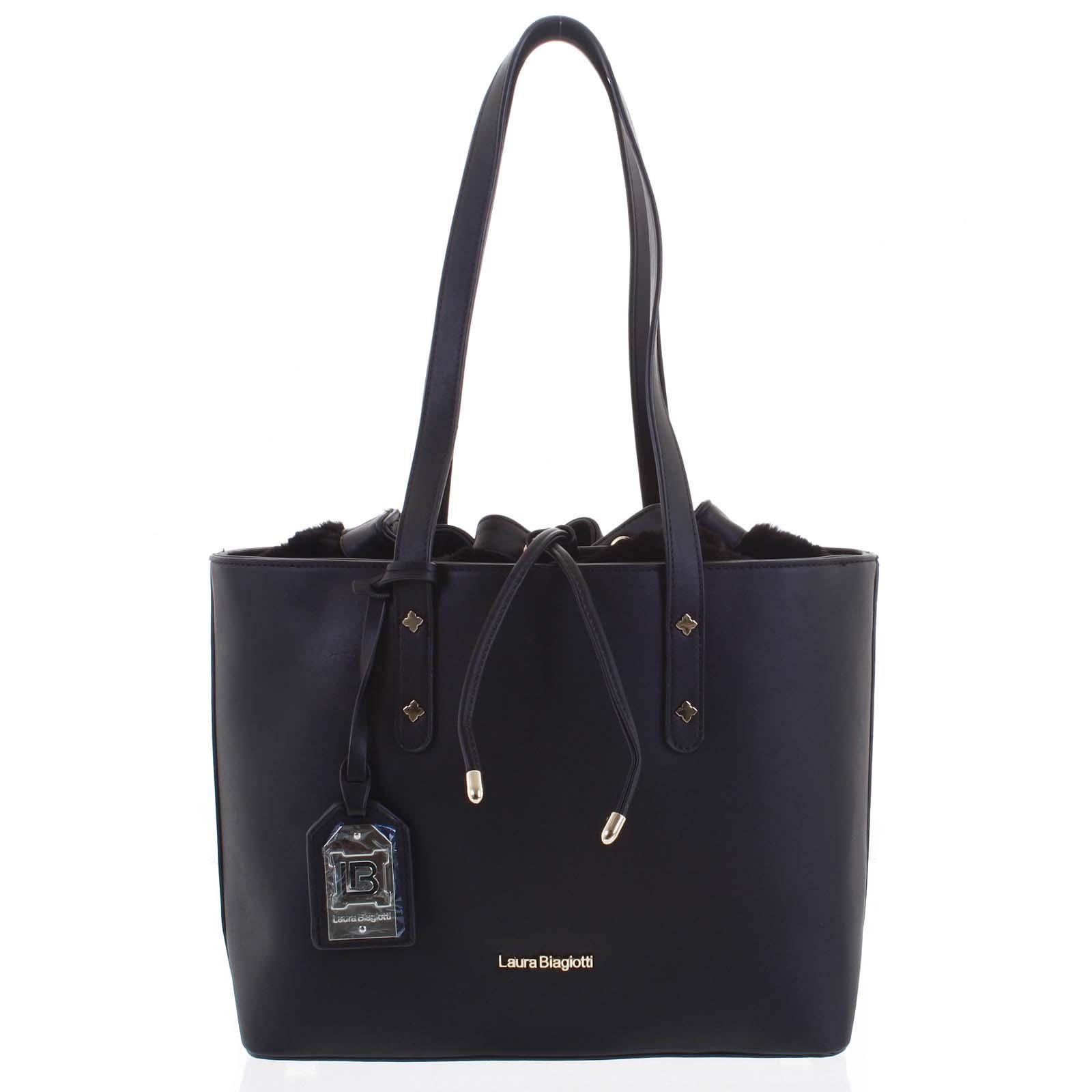 Dámská kabelka přes rameno černá - Laura Biagiotti Violet