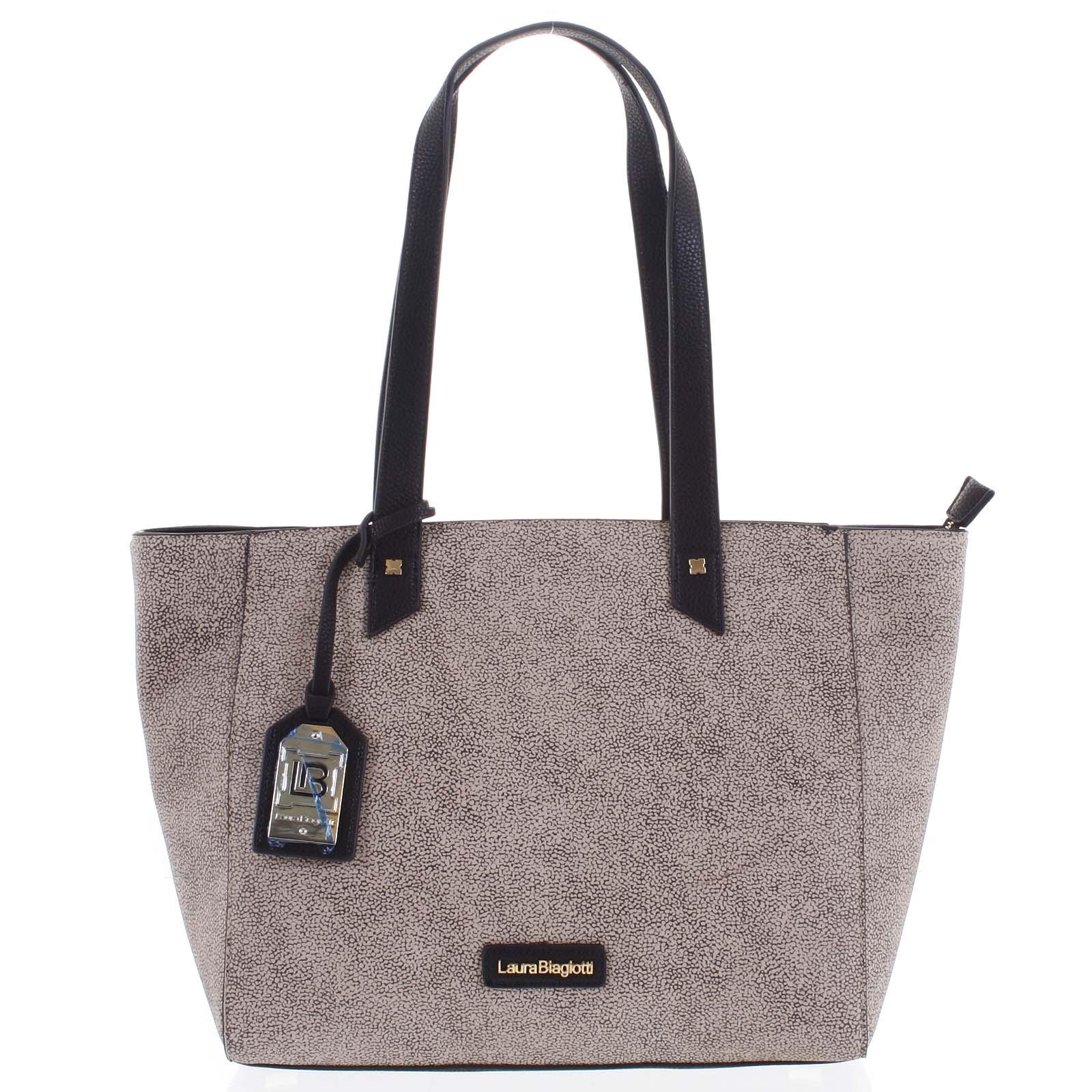 Dámská kabelka přes rameno béžovo černá - Laura Biagiotti Odeletta