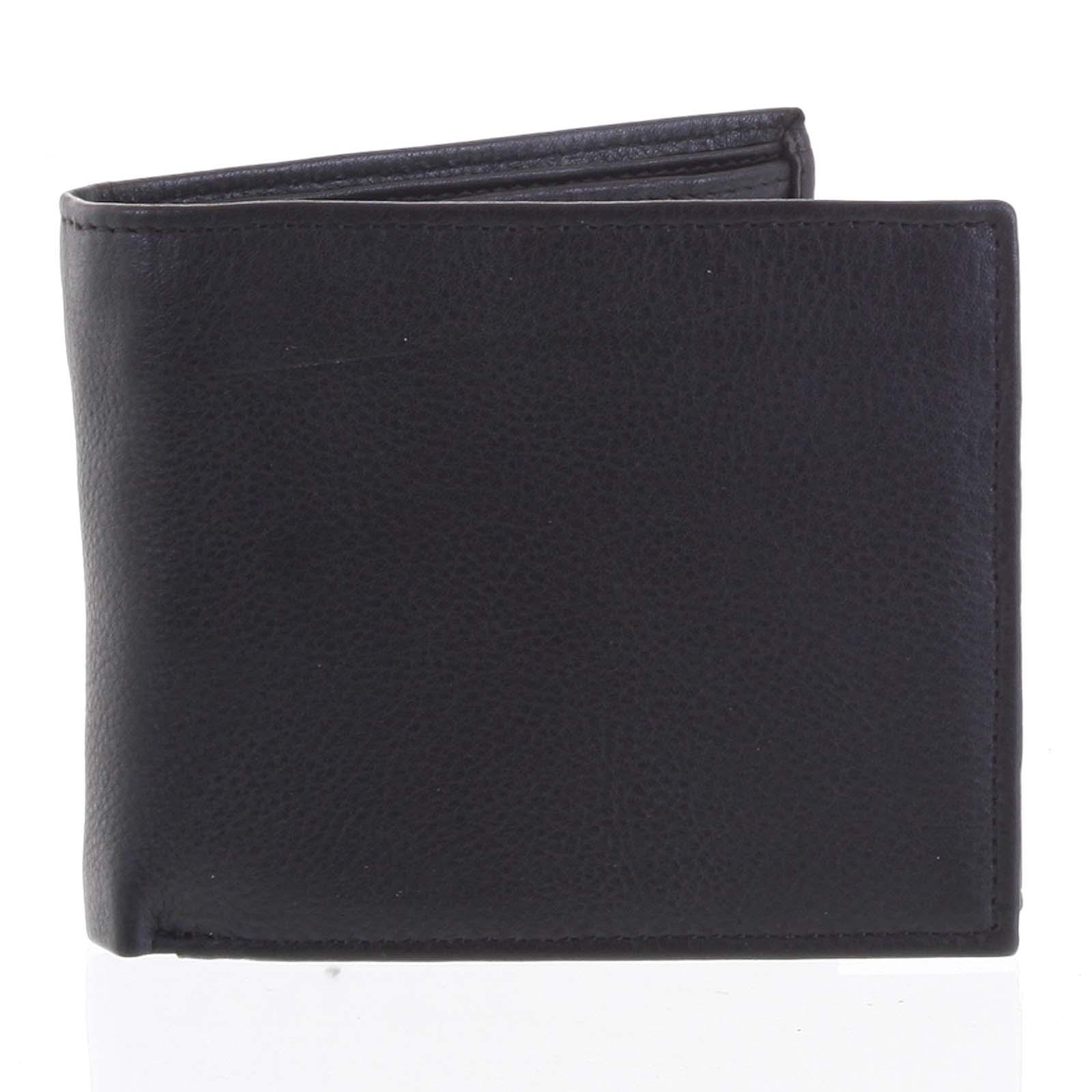 Prostorná pánská kožená černá peněženka - Tomas Vilaj