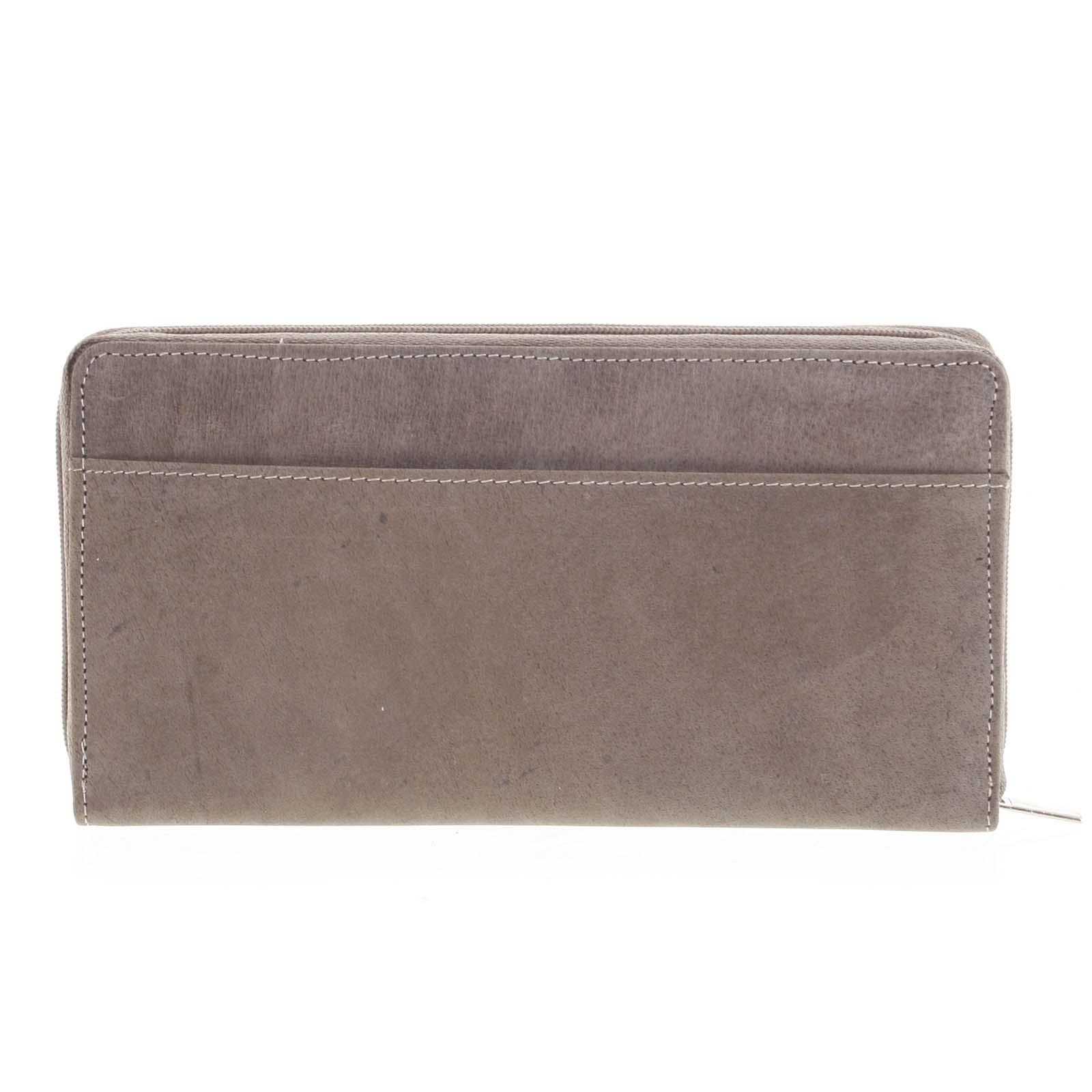 Dámská kožená peněženka taupe - Tomas Imvilophu