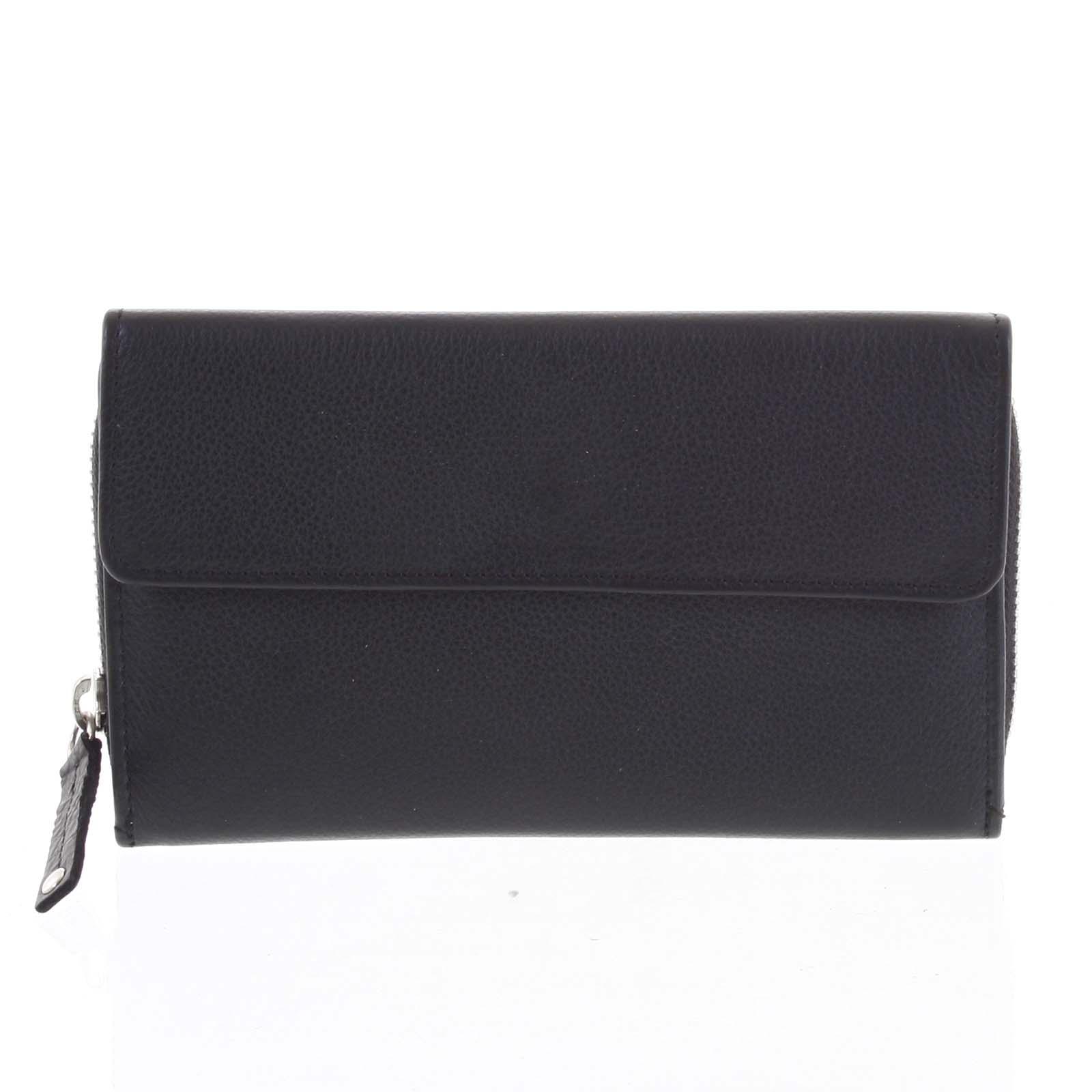 Dámská kožená peněženka černá - Tomas Menmaiya