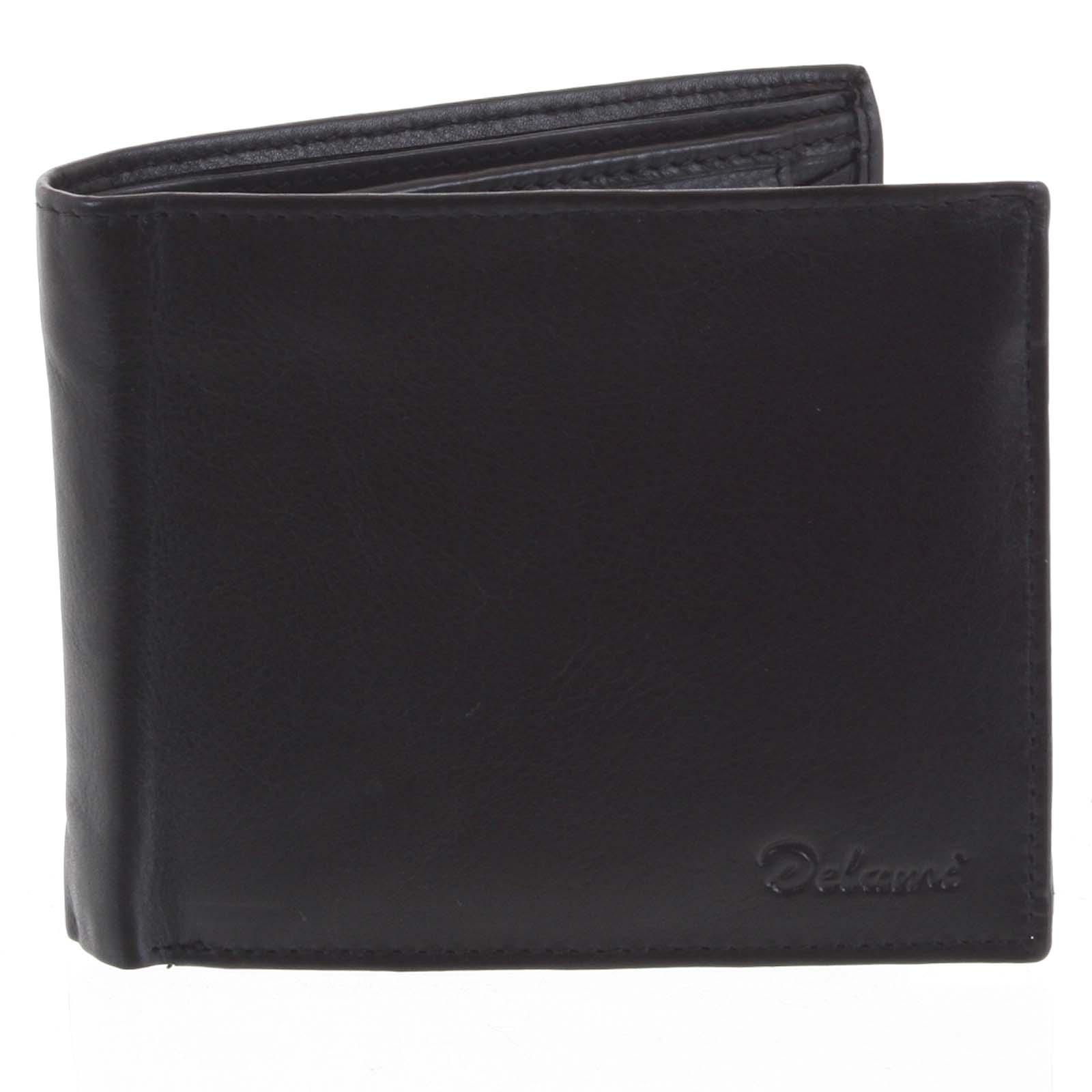 Pánská kožená peněženka černá - Delami Five