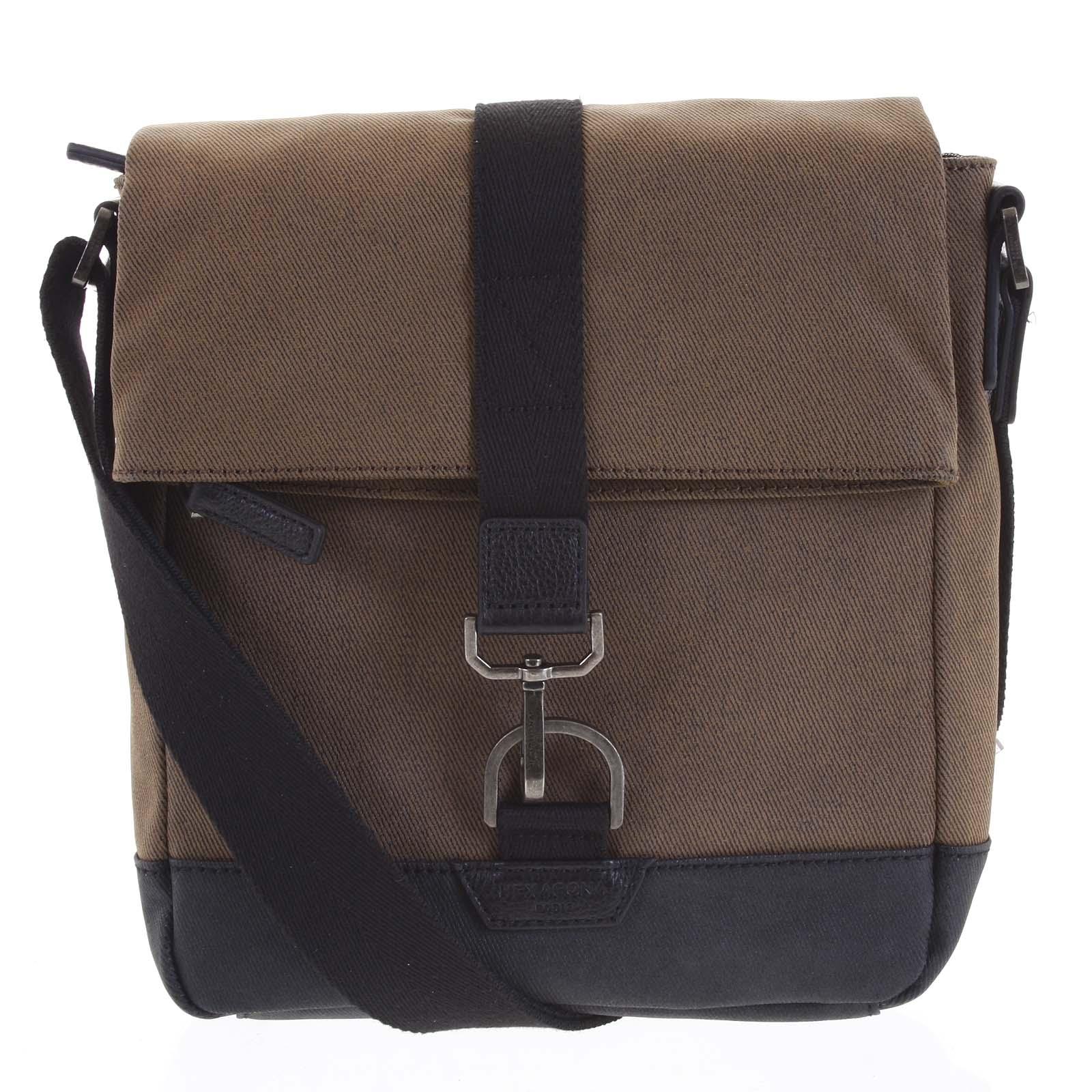 Pánská taška přes rameno hnědá - Hexagona Bennio