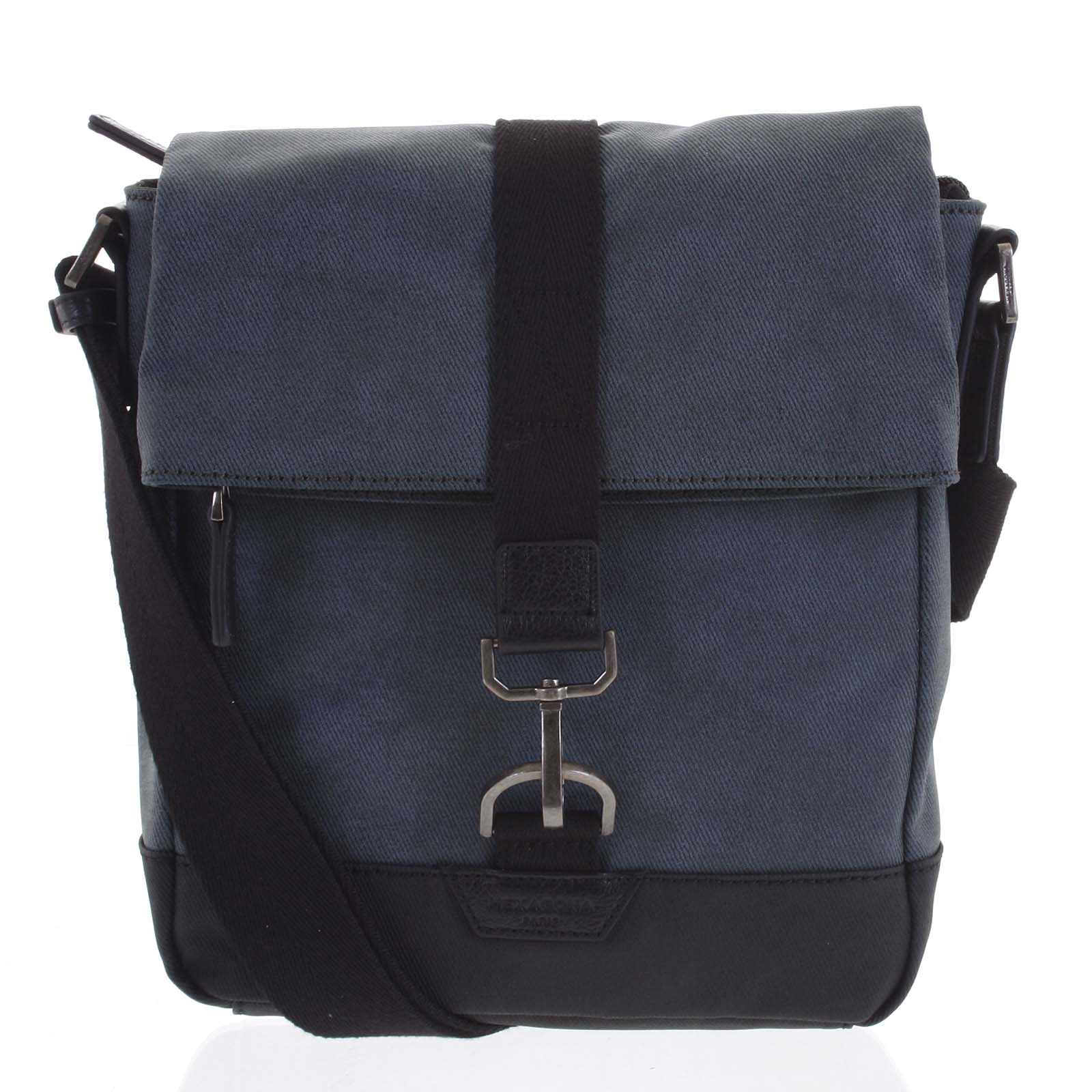 Pánská taška přes rameno modrá - Hexagona Bennio