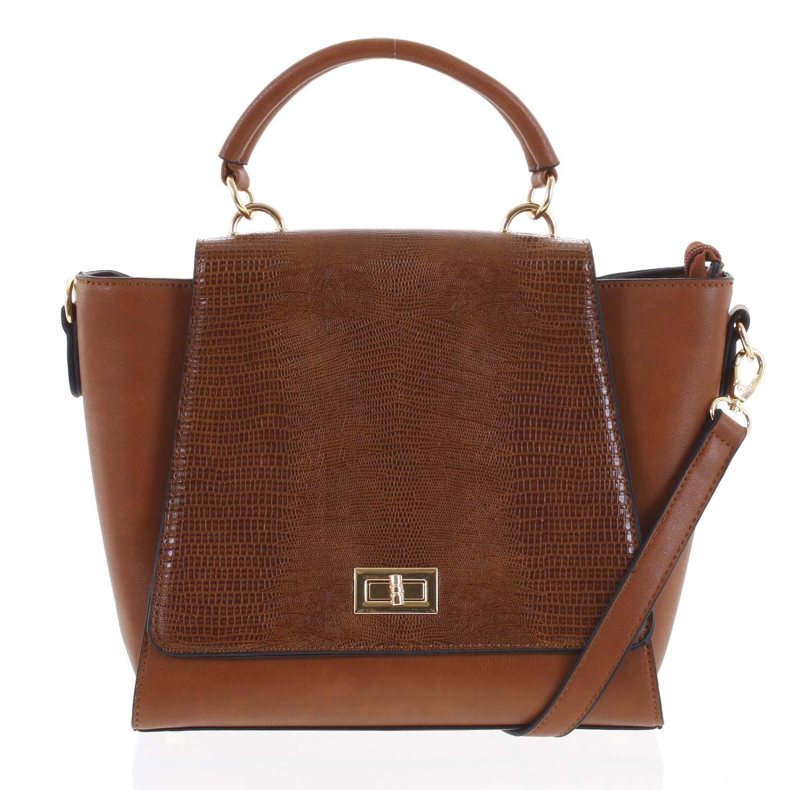 Dámská kabelka do ruky světle hnědá - Dudlin Mirla