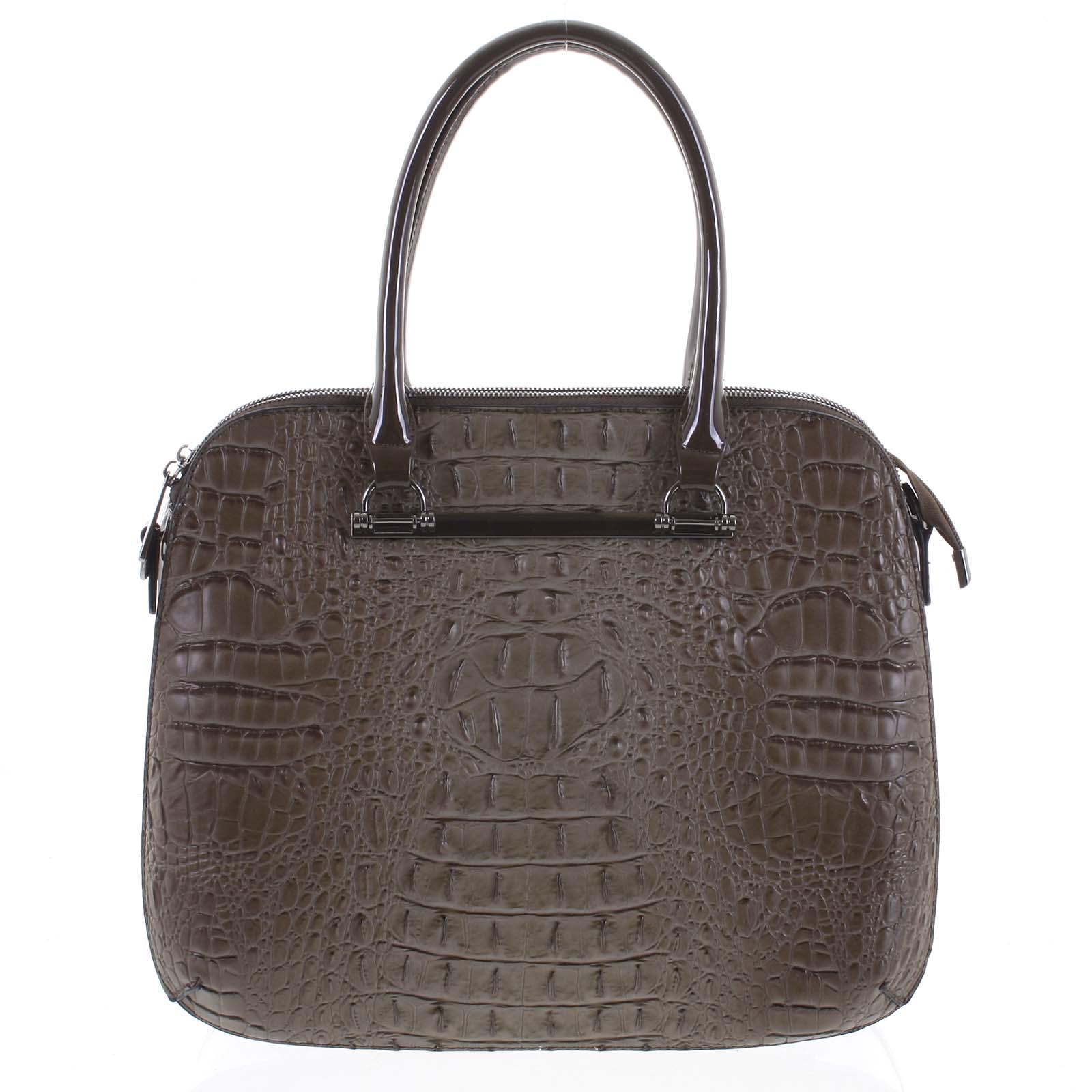 Dámská kabelka do ruky taupe - Dudlin Lexi