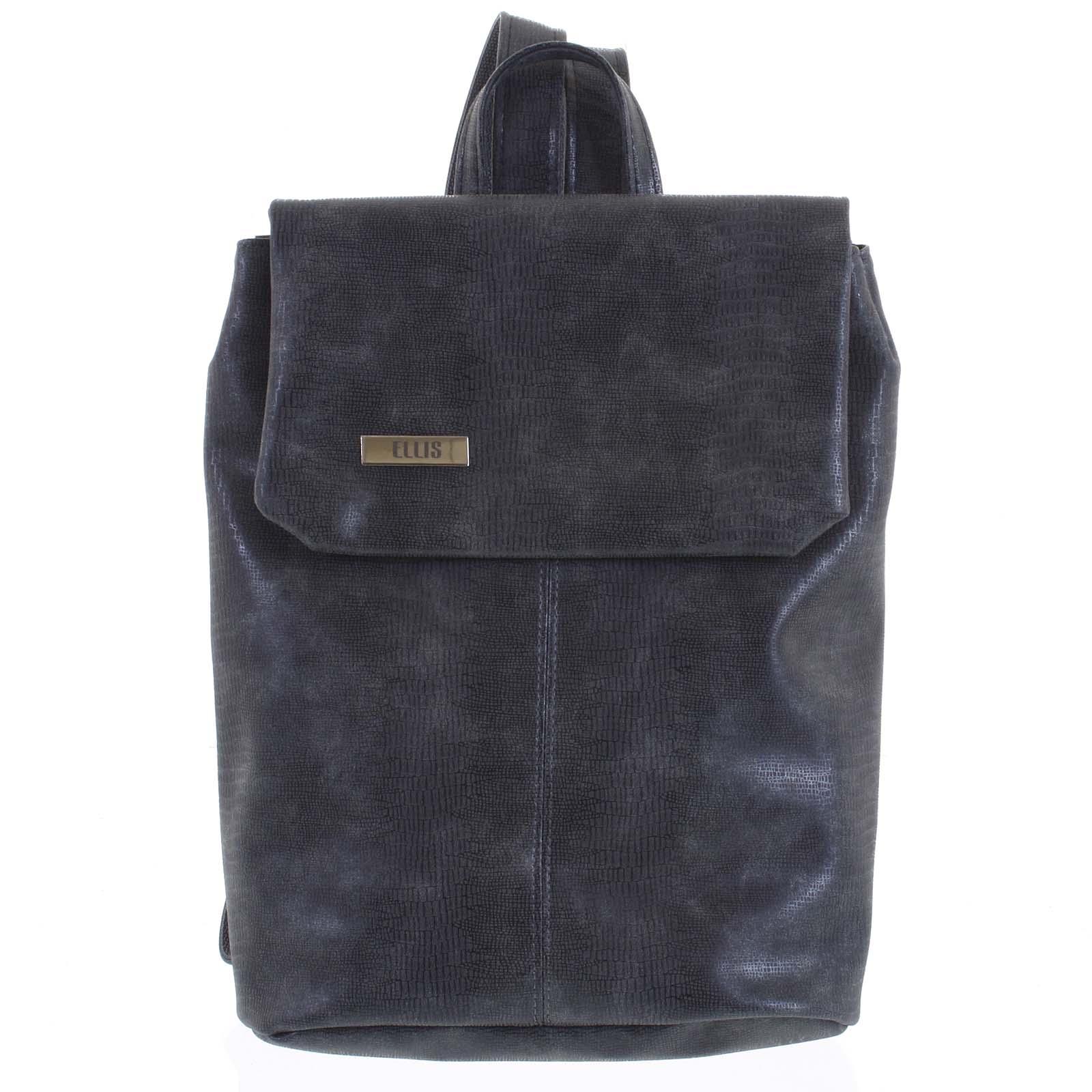 Větší měkký dámský moderní tmavě šedý batoh - Ellis Elizabeth