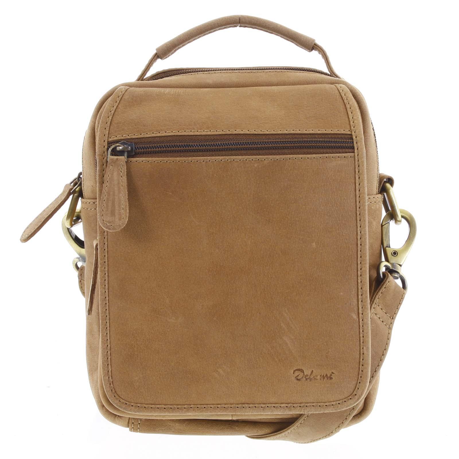 Pánská kožená taška přes rameno hnědá - Delami Gabo M