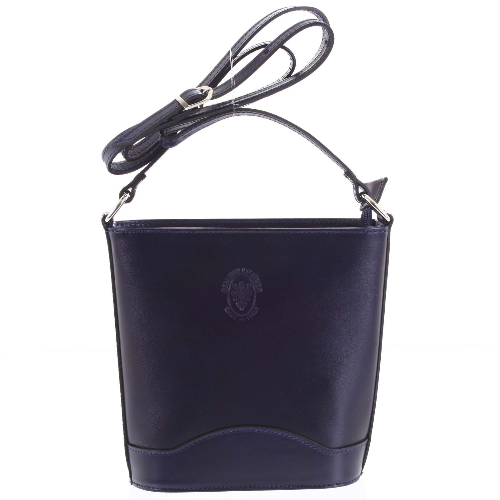 Tmavě modrá kožená crossbody kabelka - ItalY Bryana