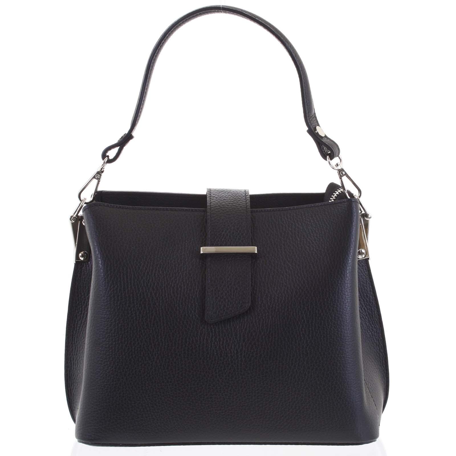 Dámská kožená kabelka do ruky černá - ItalY Auren