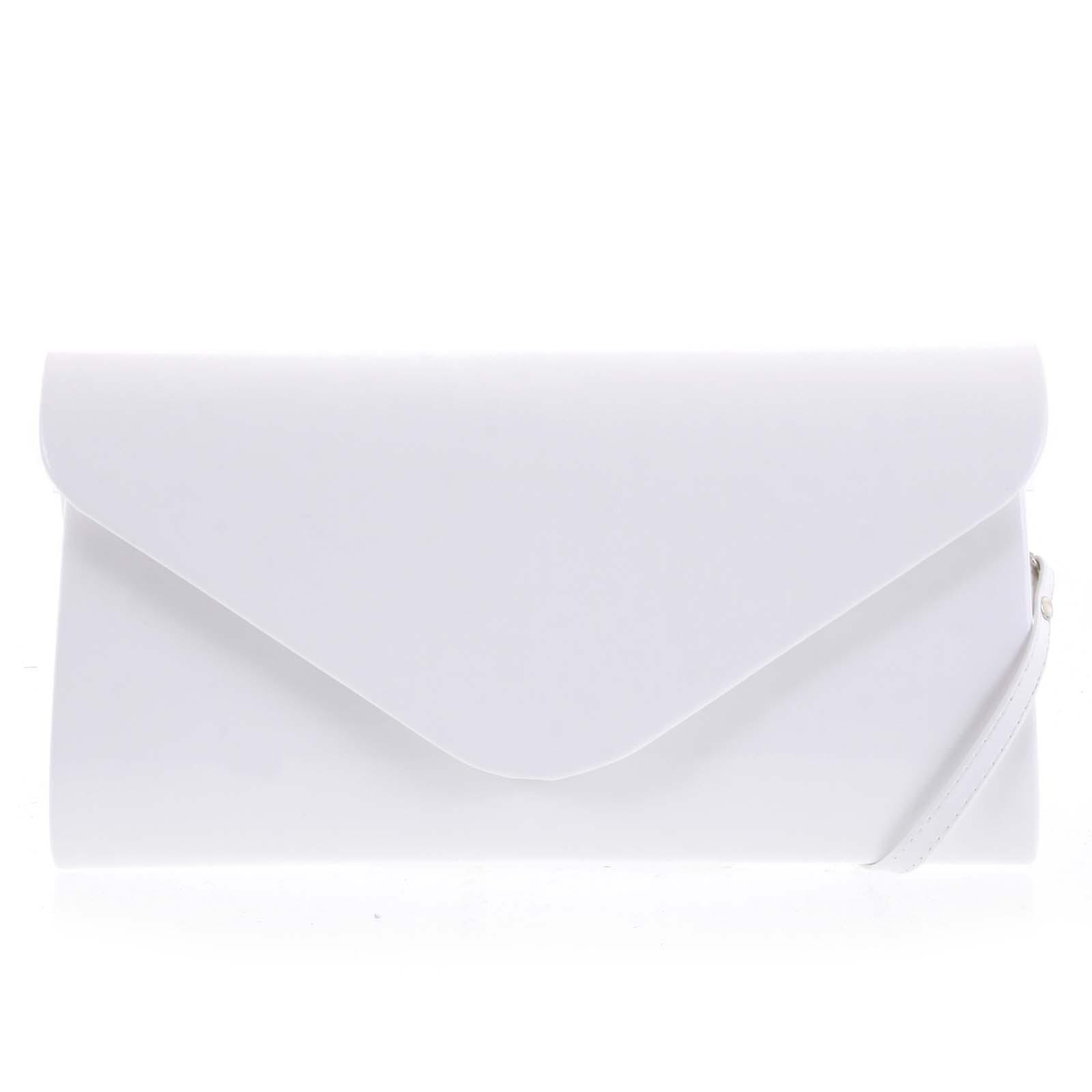 Luxusní velké dámské psaníčko bílé lesklé - Delami LasVegas
