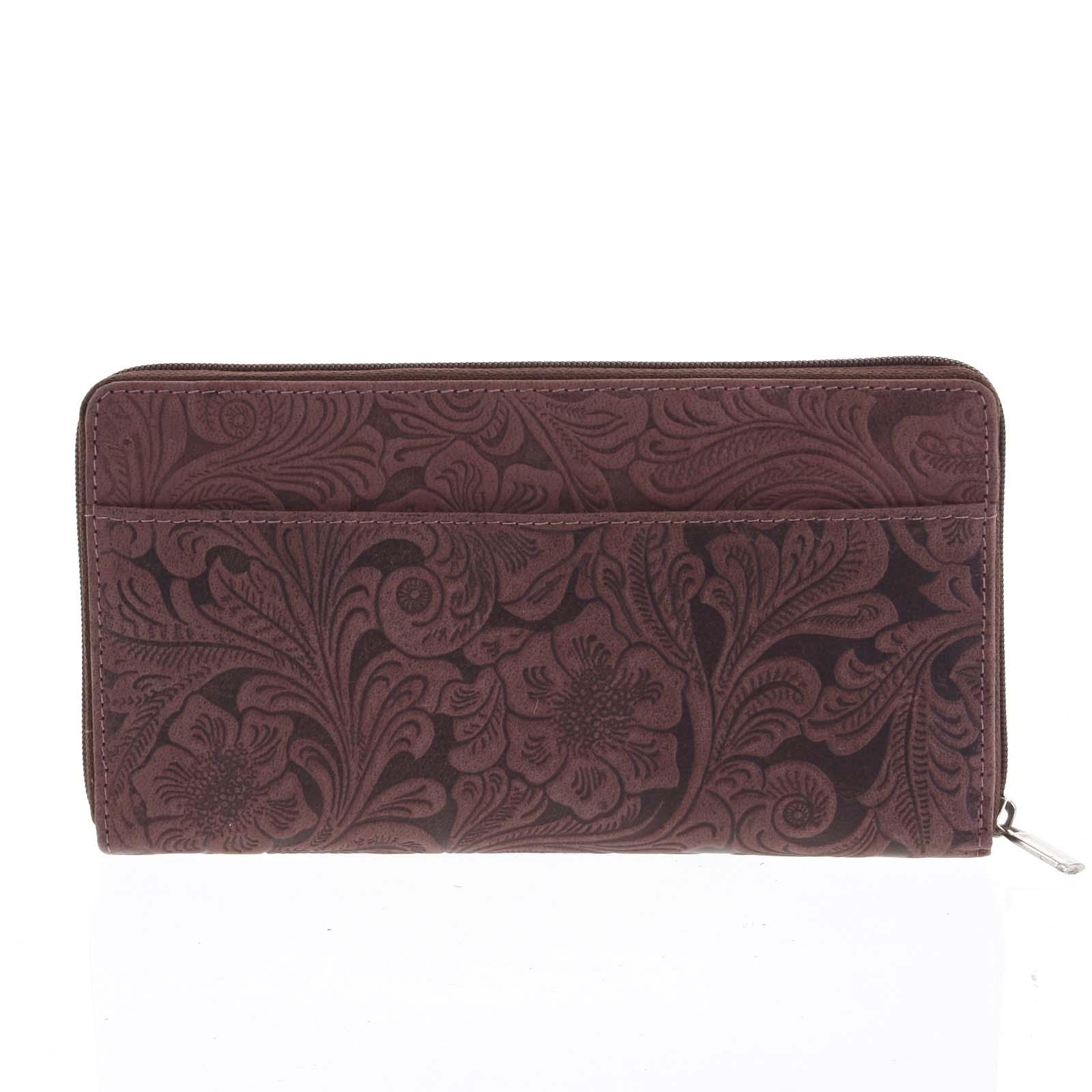 Dámská kožená peněženka bordó - Tomas Imvilophu Two
