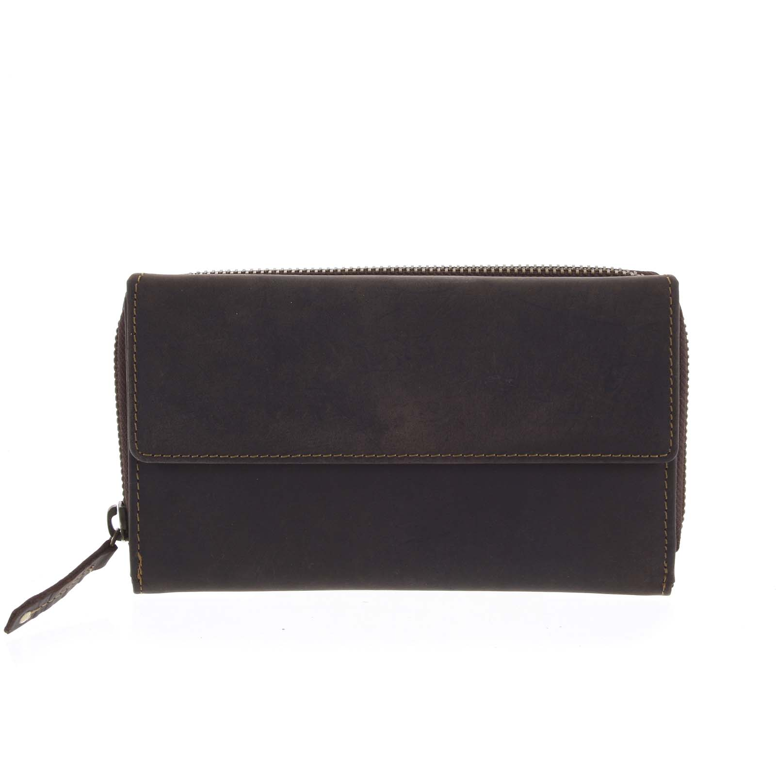 Dámská kožená peněženka tmavě hnědá - Tomas Menmaiya
