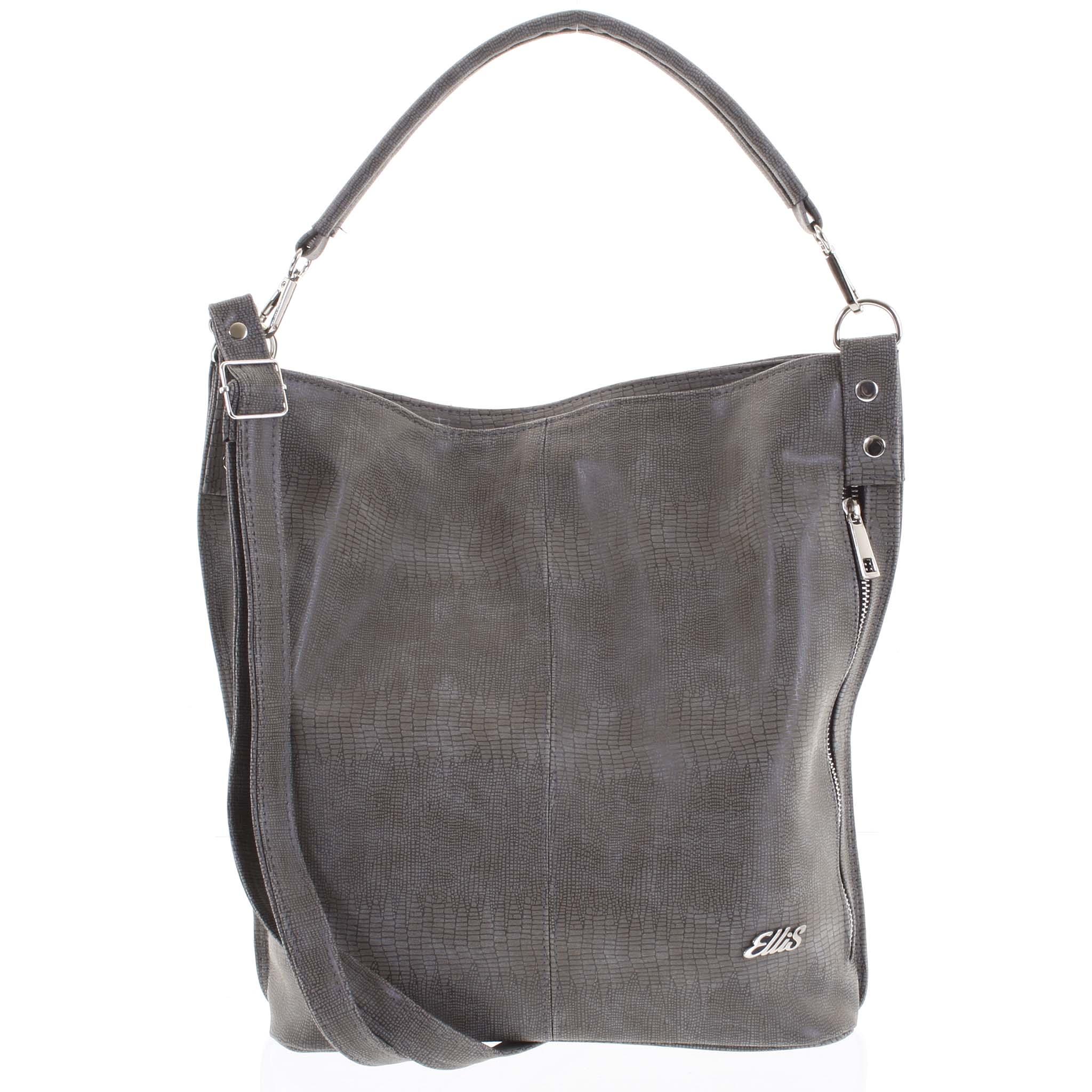 Elegantní dámská kabelka přes rameno tmavá taupe - Ellis Negina
