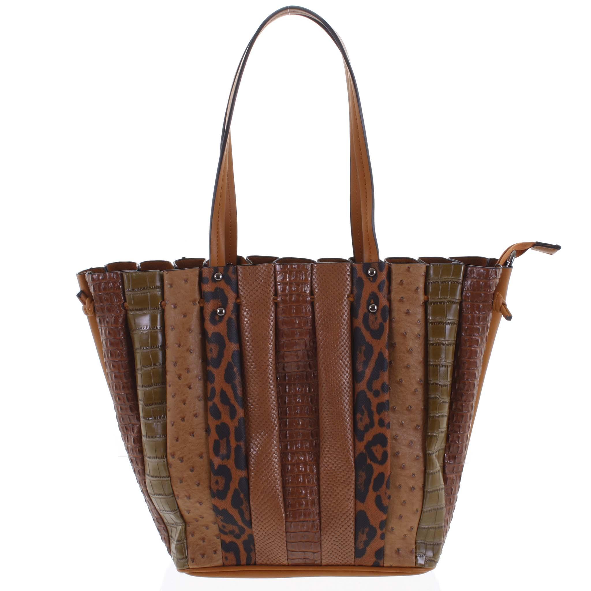 Dámská kabelka přes rameno hnědá - Dudlin Tola